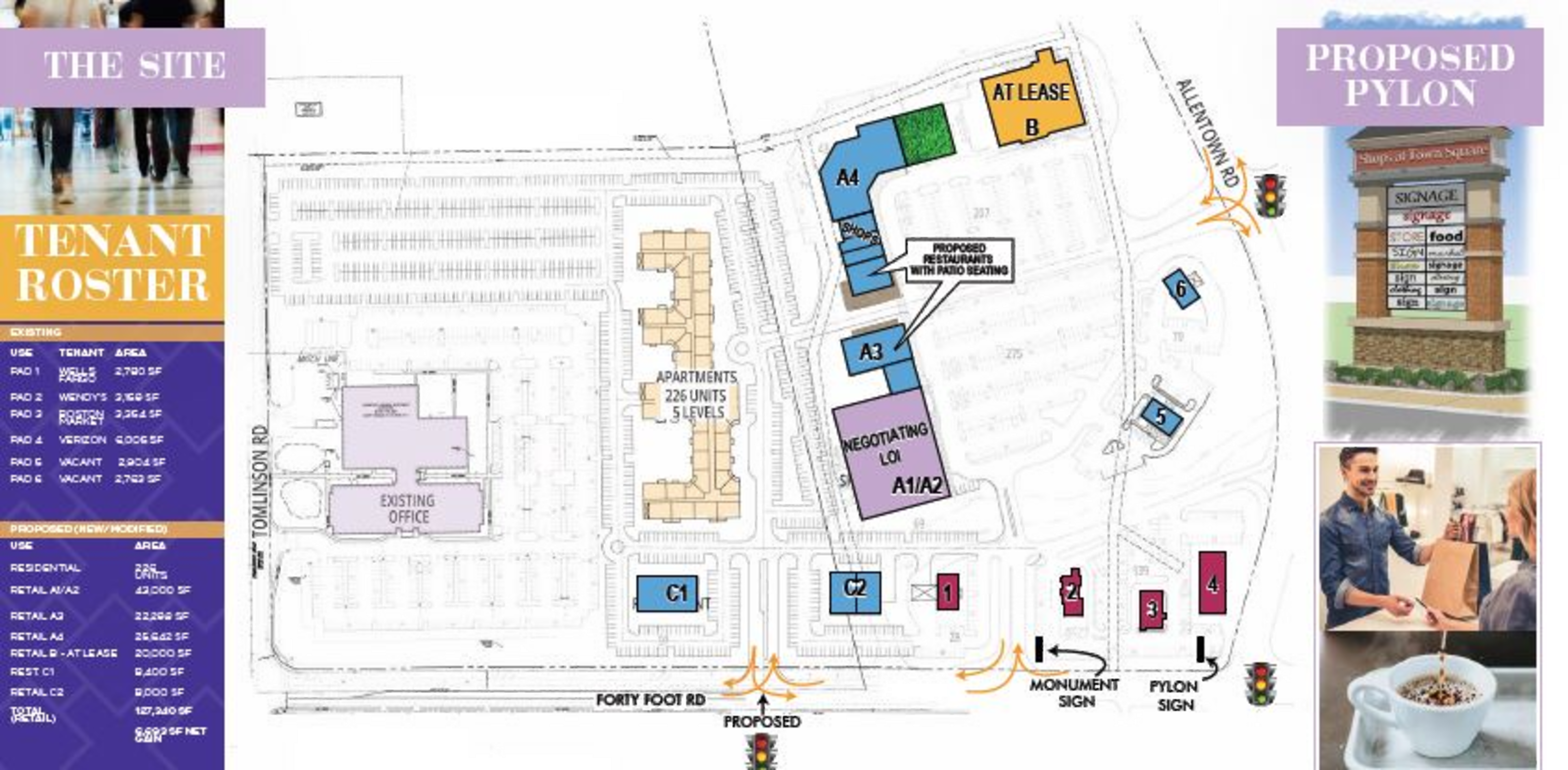 Shops at Town Square : site plan