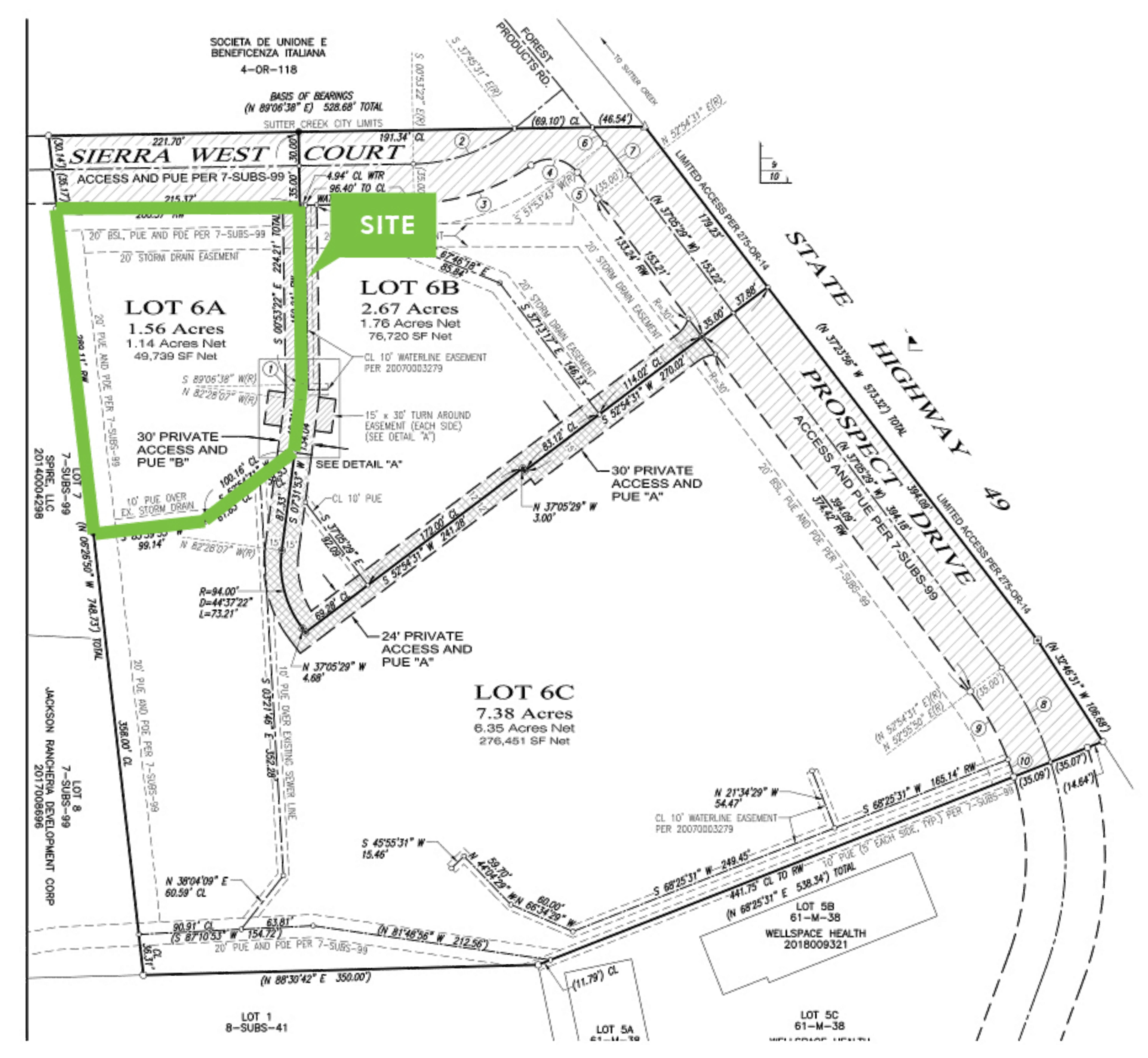 Commercial Land: site plan