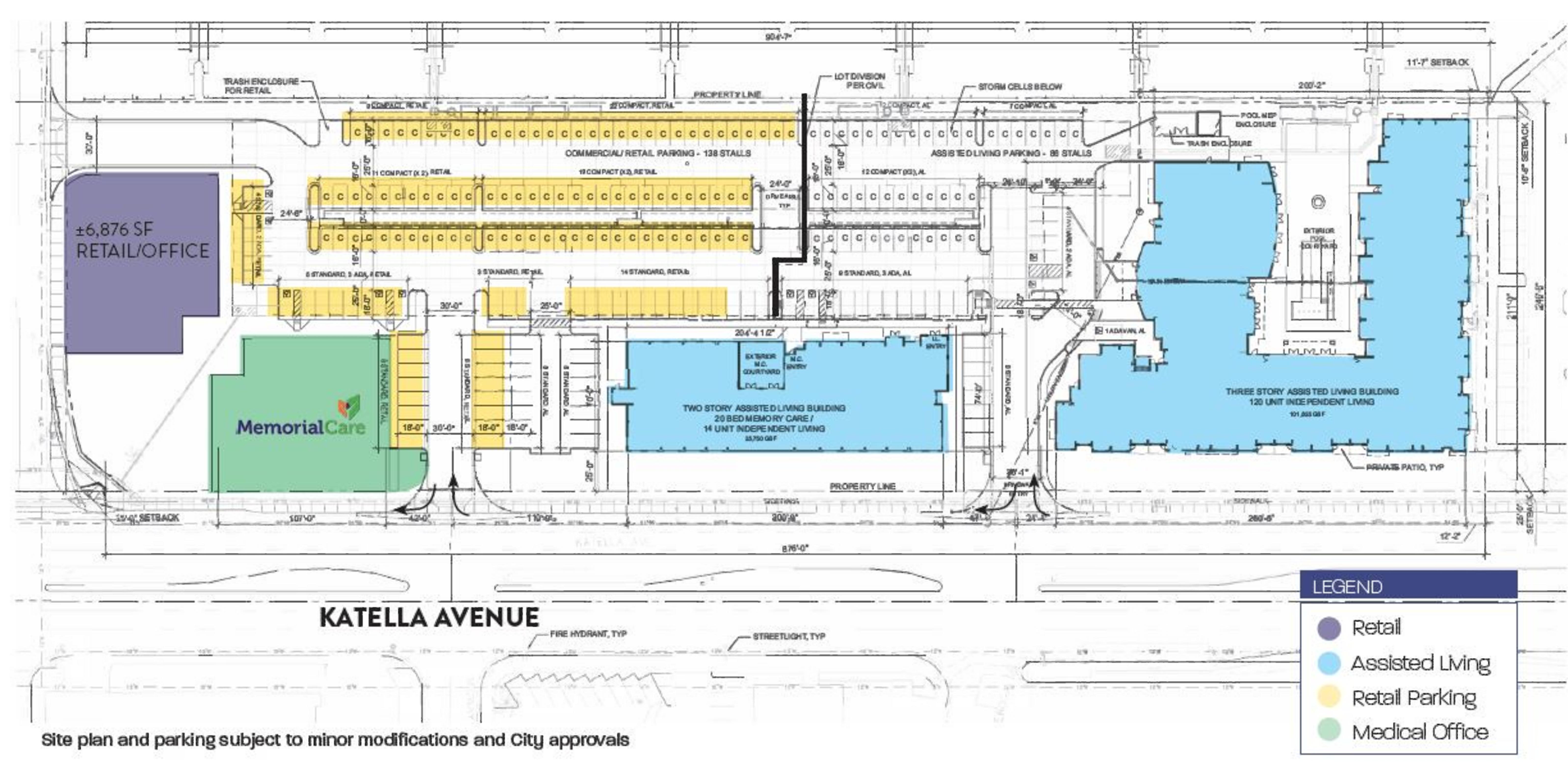 Barton Place Retail: site plan