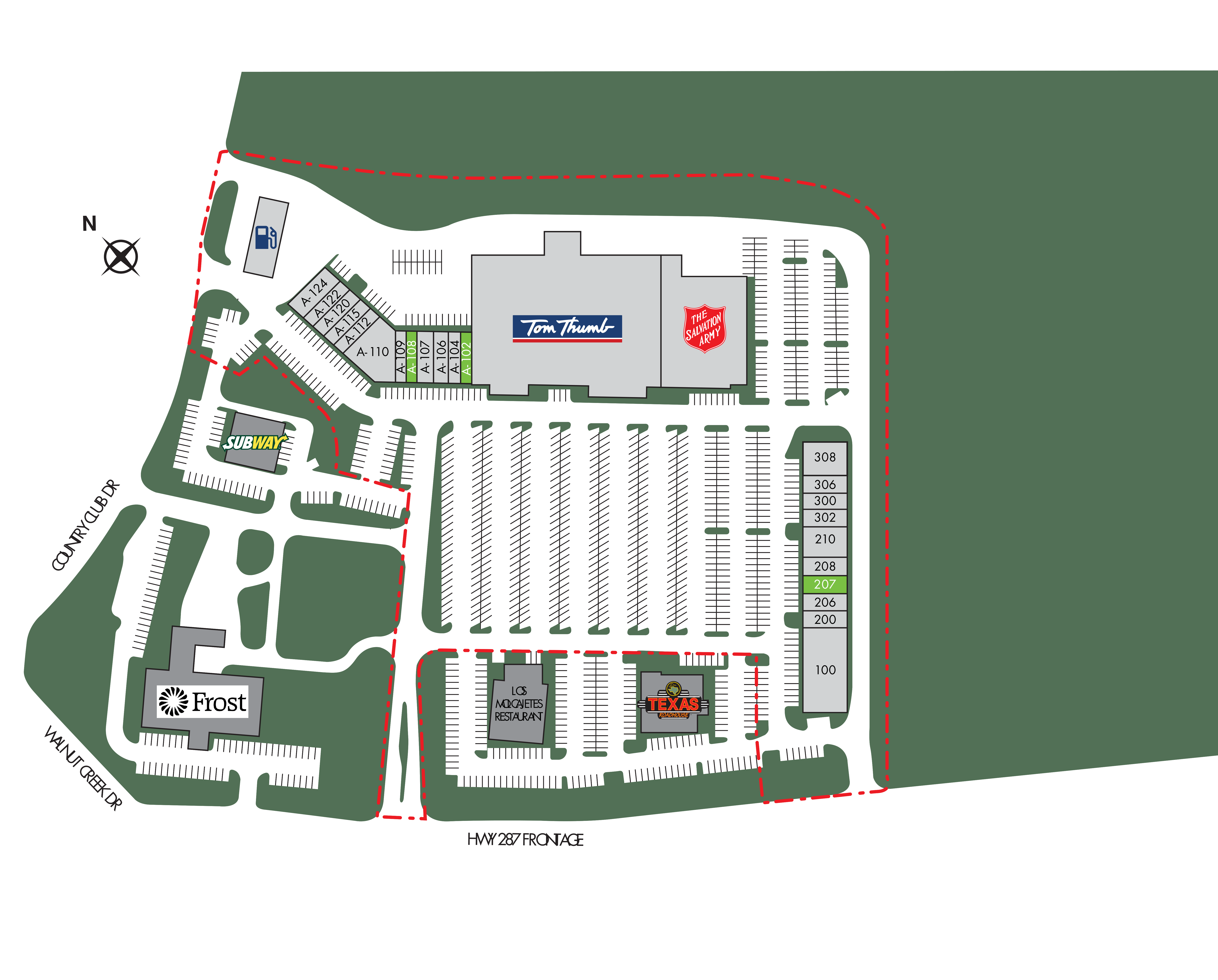 The Commons at Walnut Creek: site plan