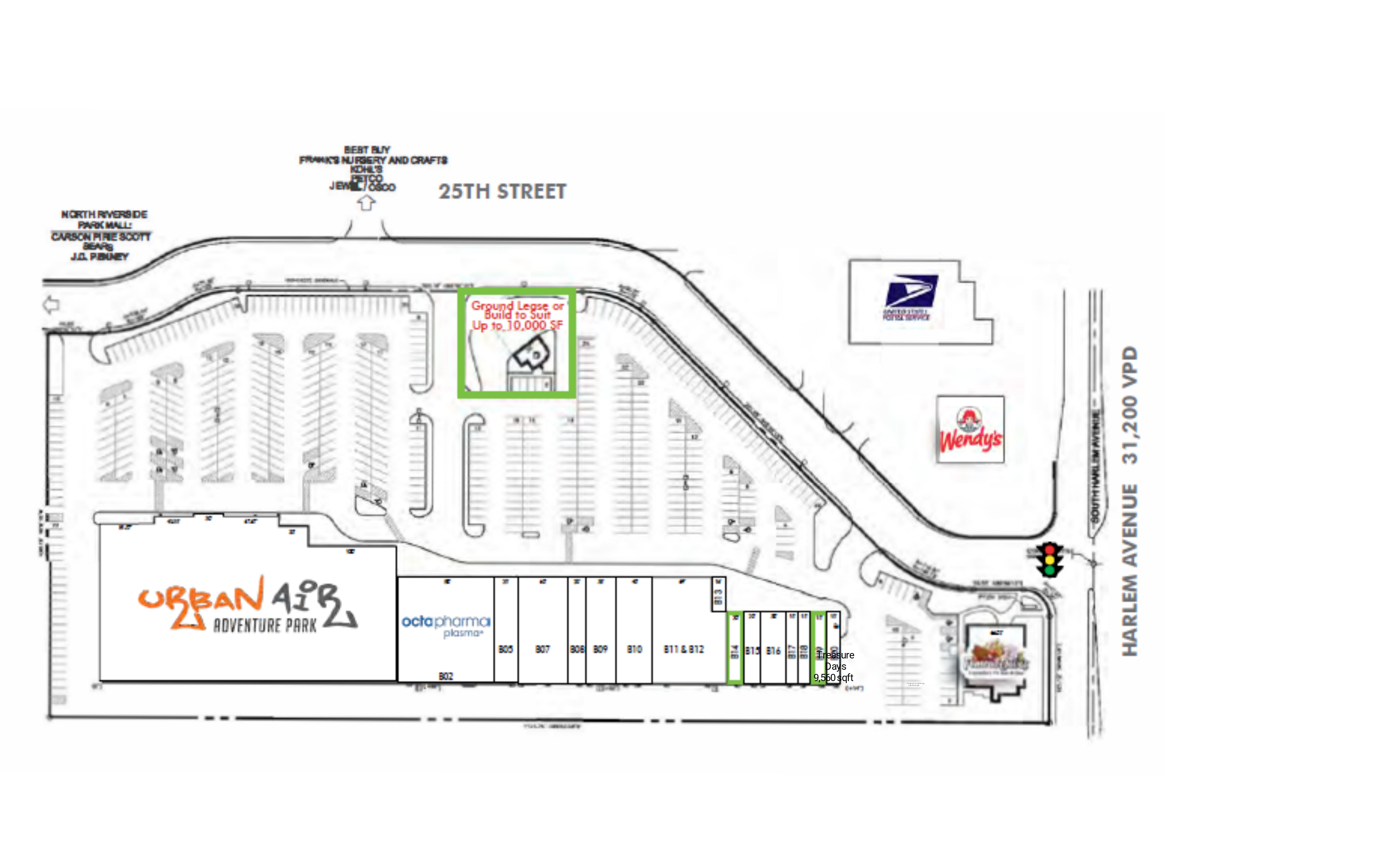 North Riverside Park Plaza: site plan