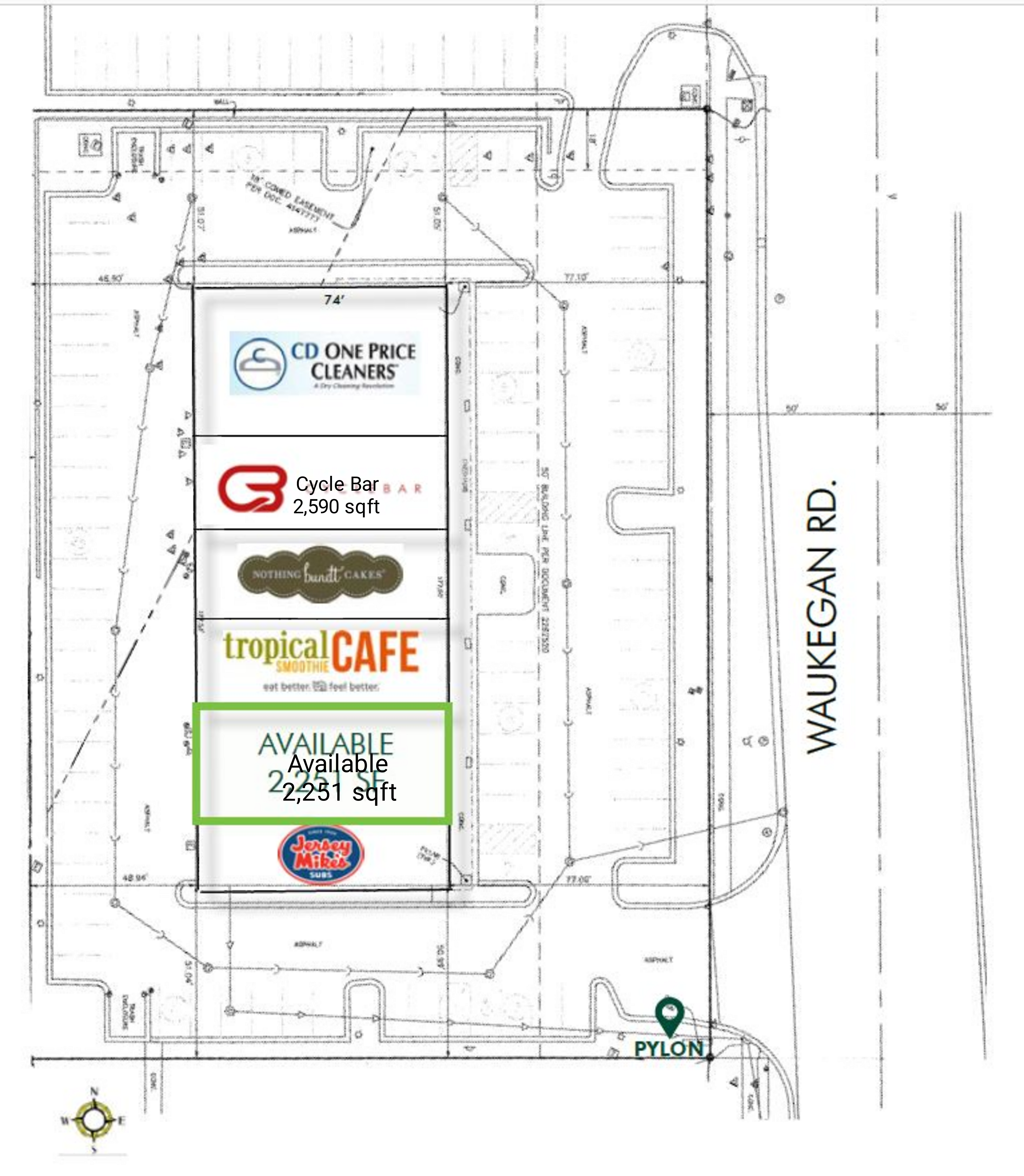 The Shoppes of Deerfield: site plan