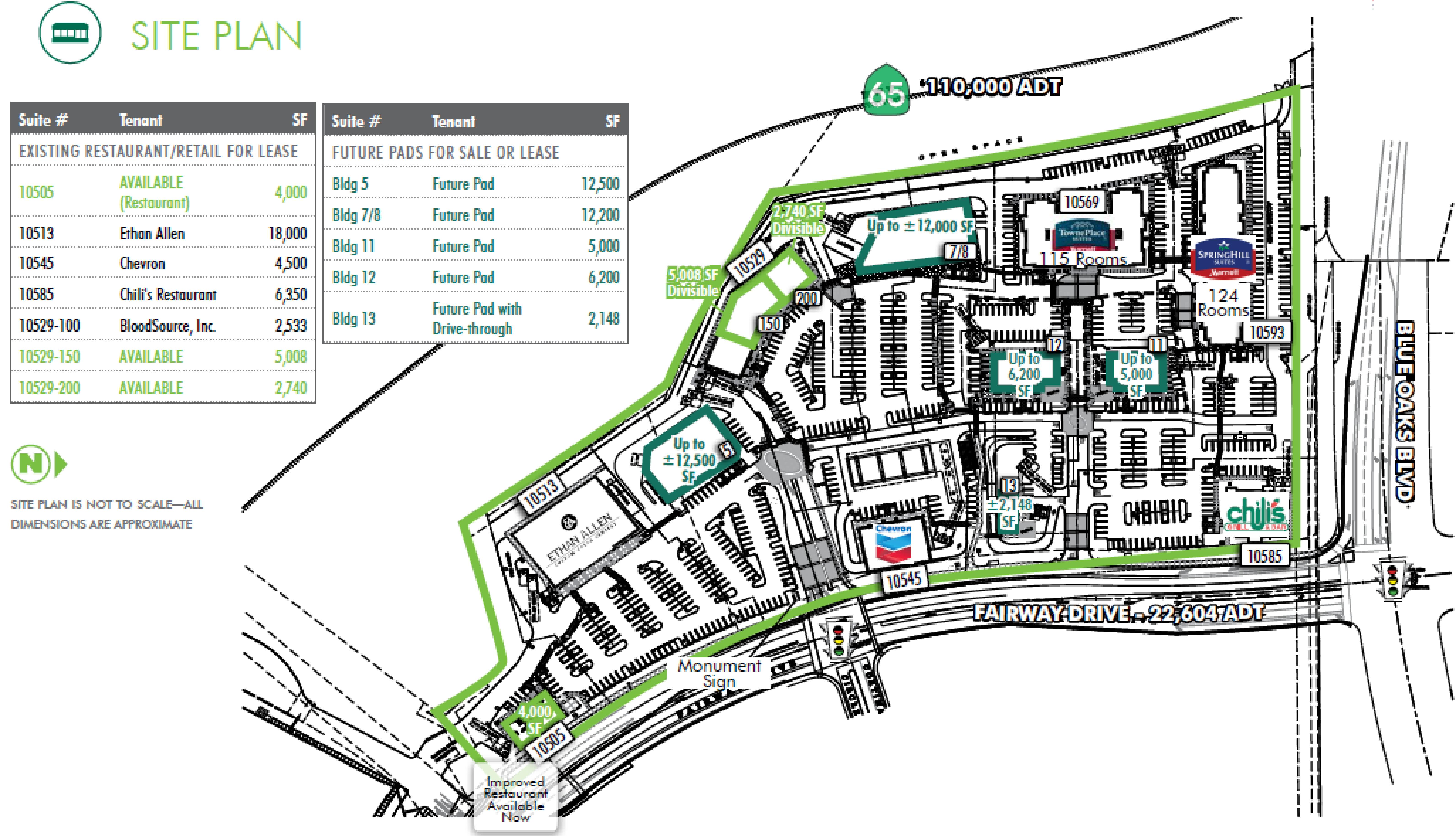 Roseville Crossing: site plan