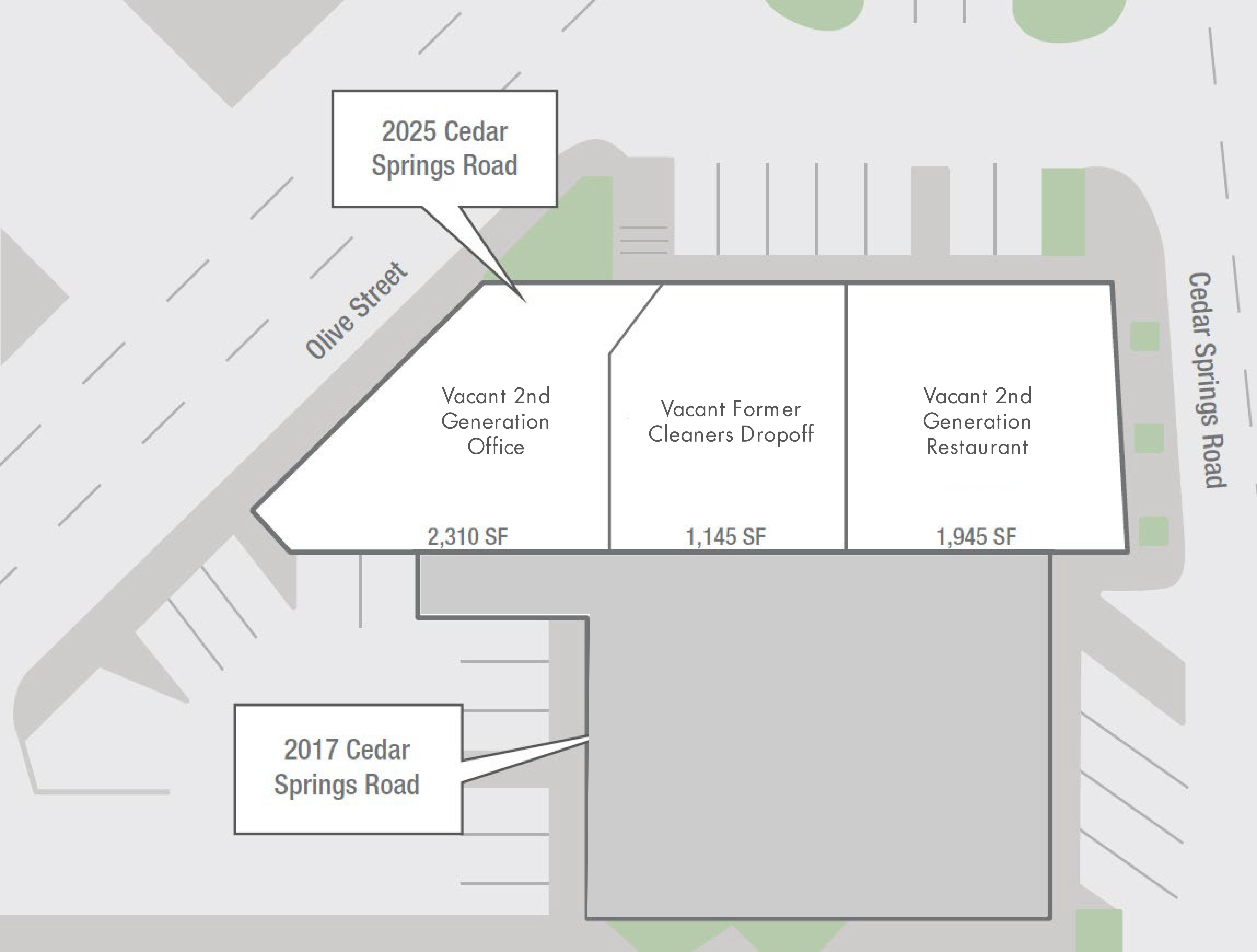 2025 Cedar Springs: site plan