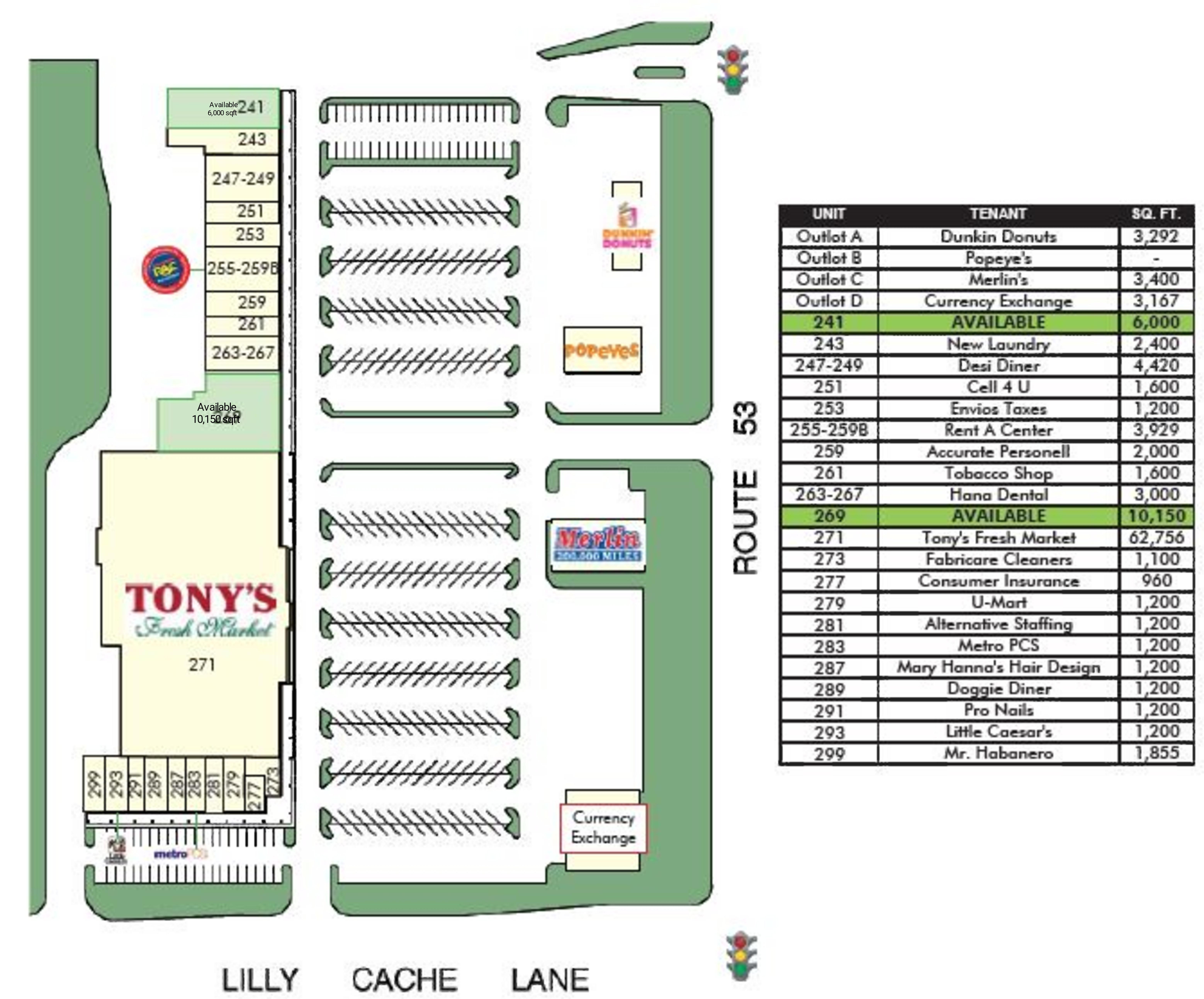 Pheasant Hill Plaza: site plan