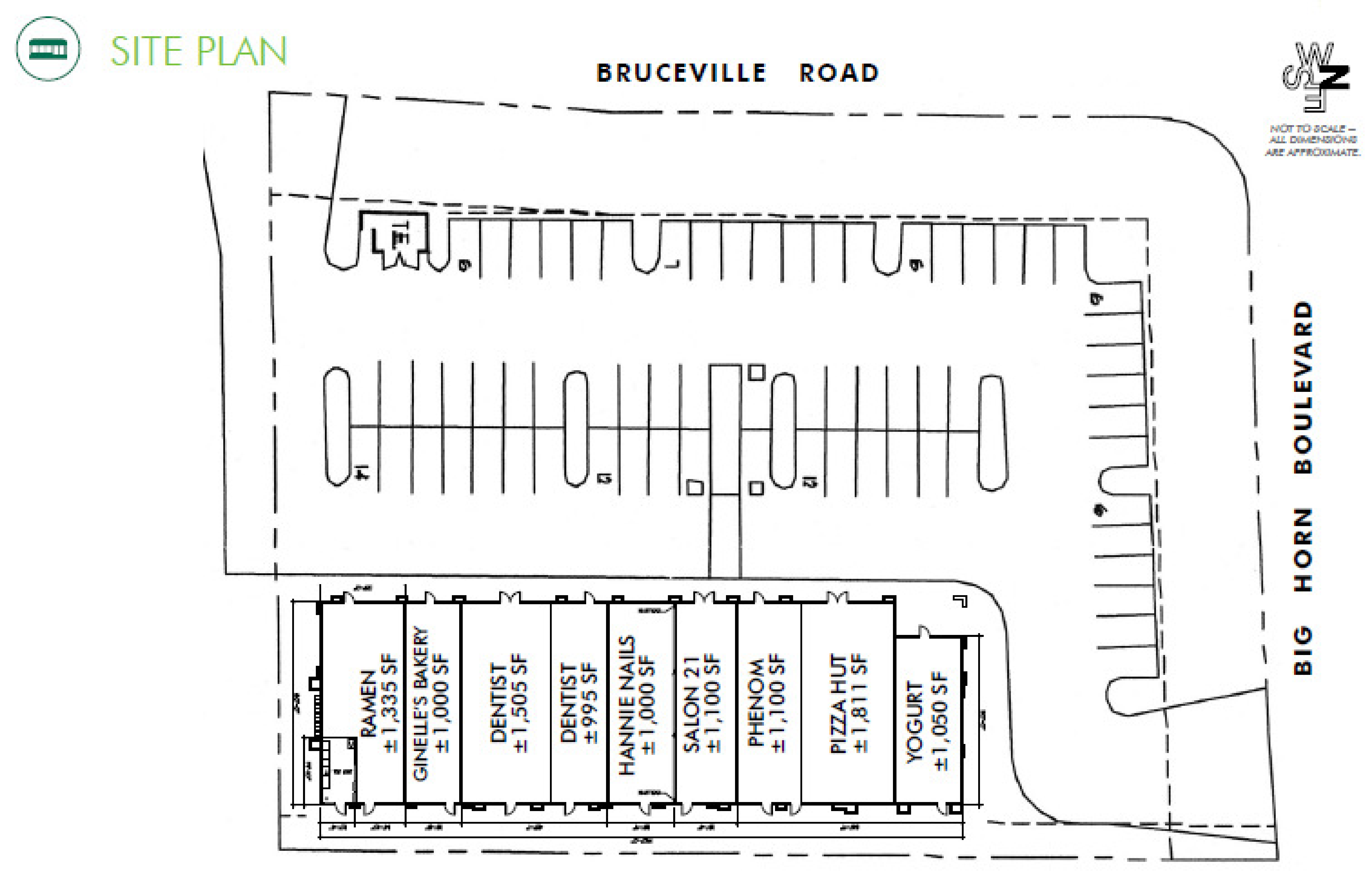Bruceville Plaza: site plan