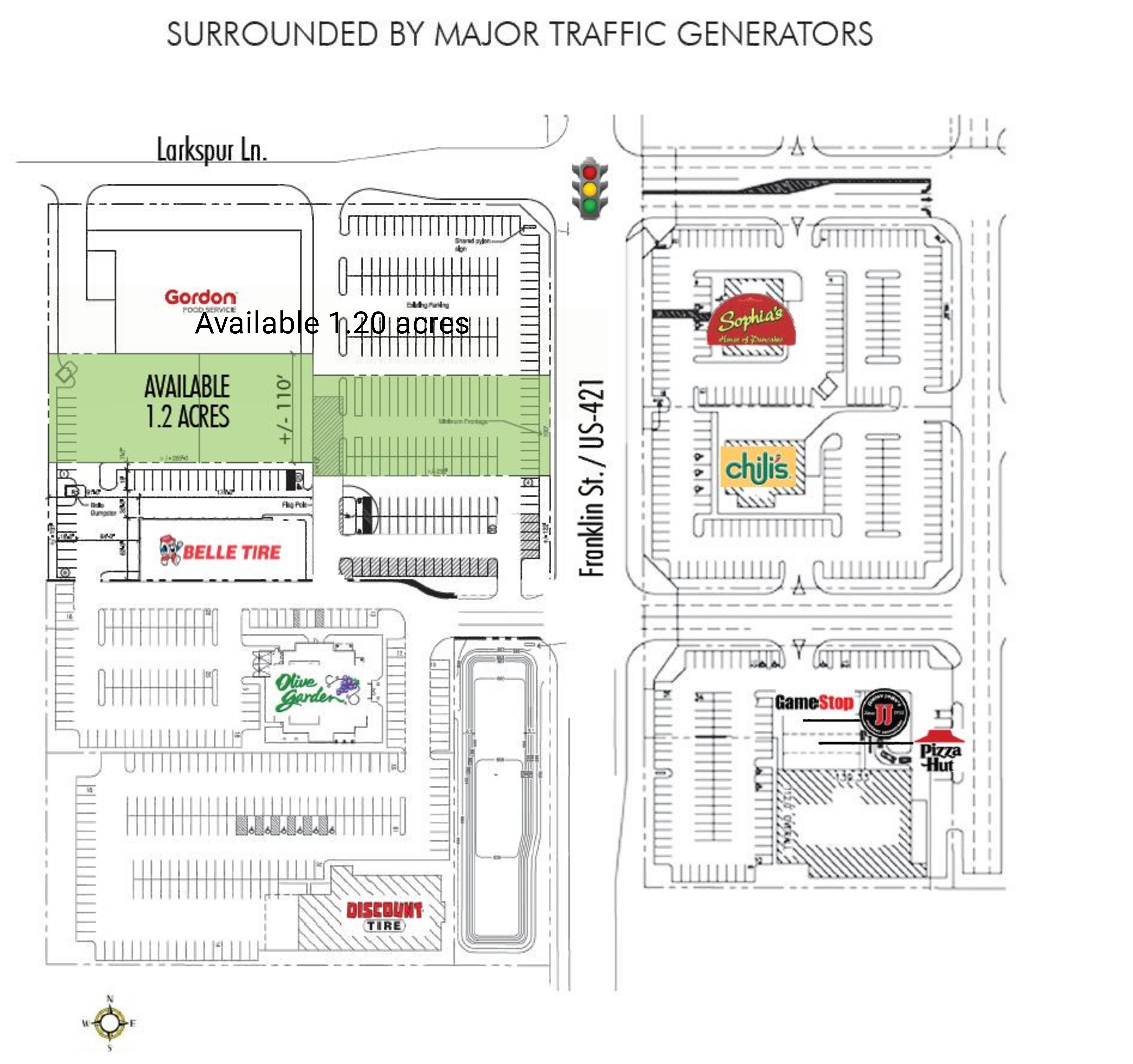 Michigan City Town Center: site plan