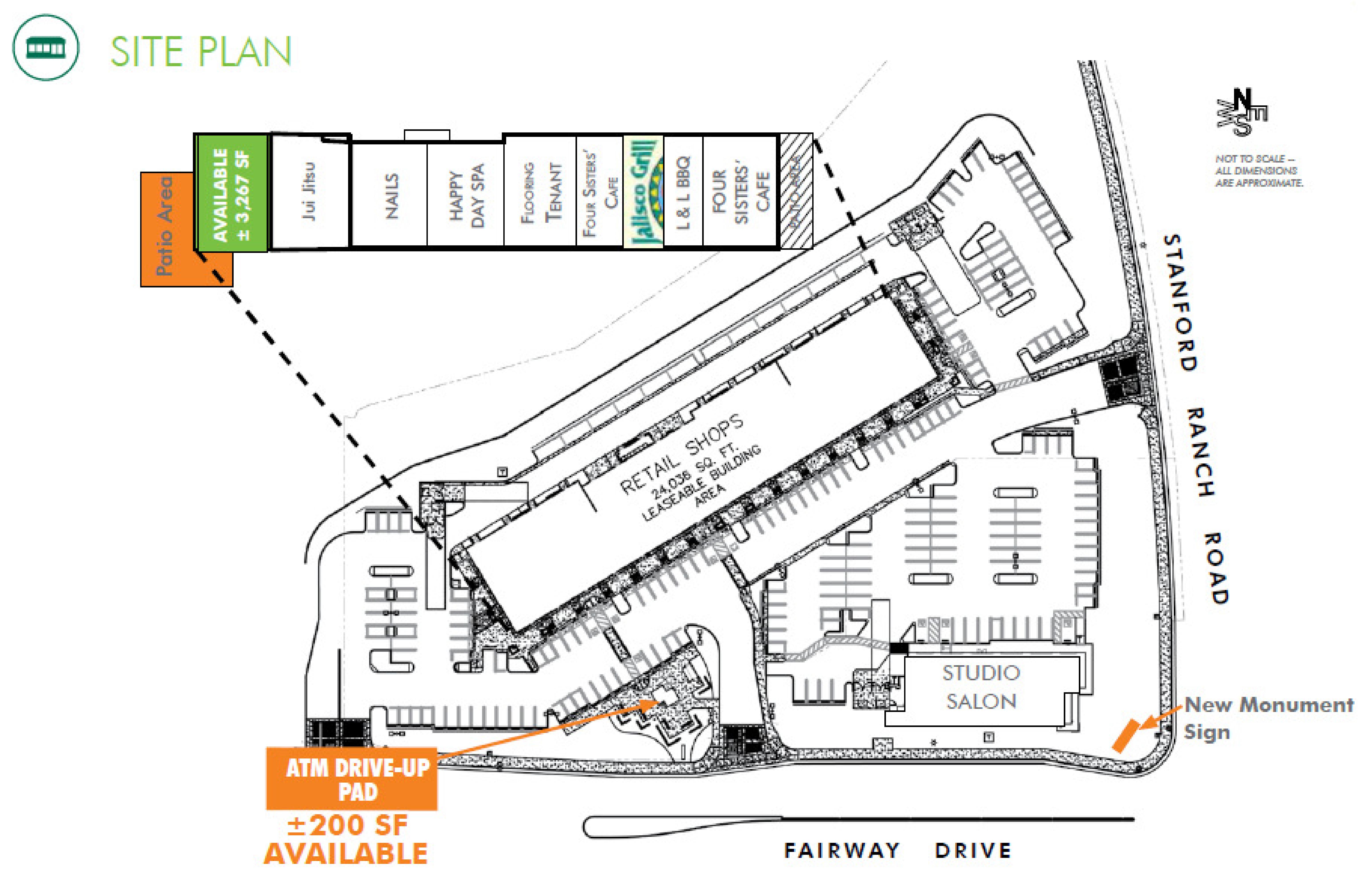 Fairway Plaza - Roseville: site plan