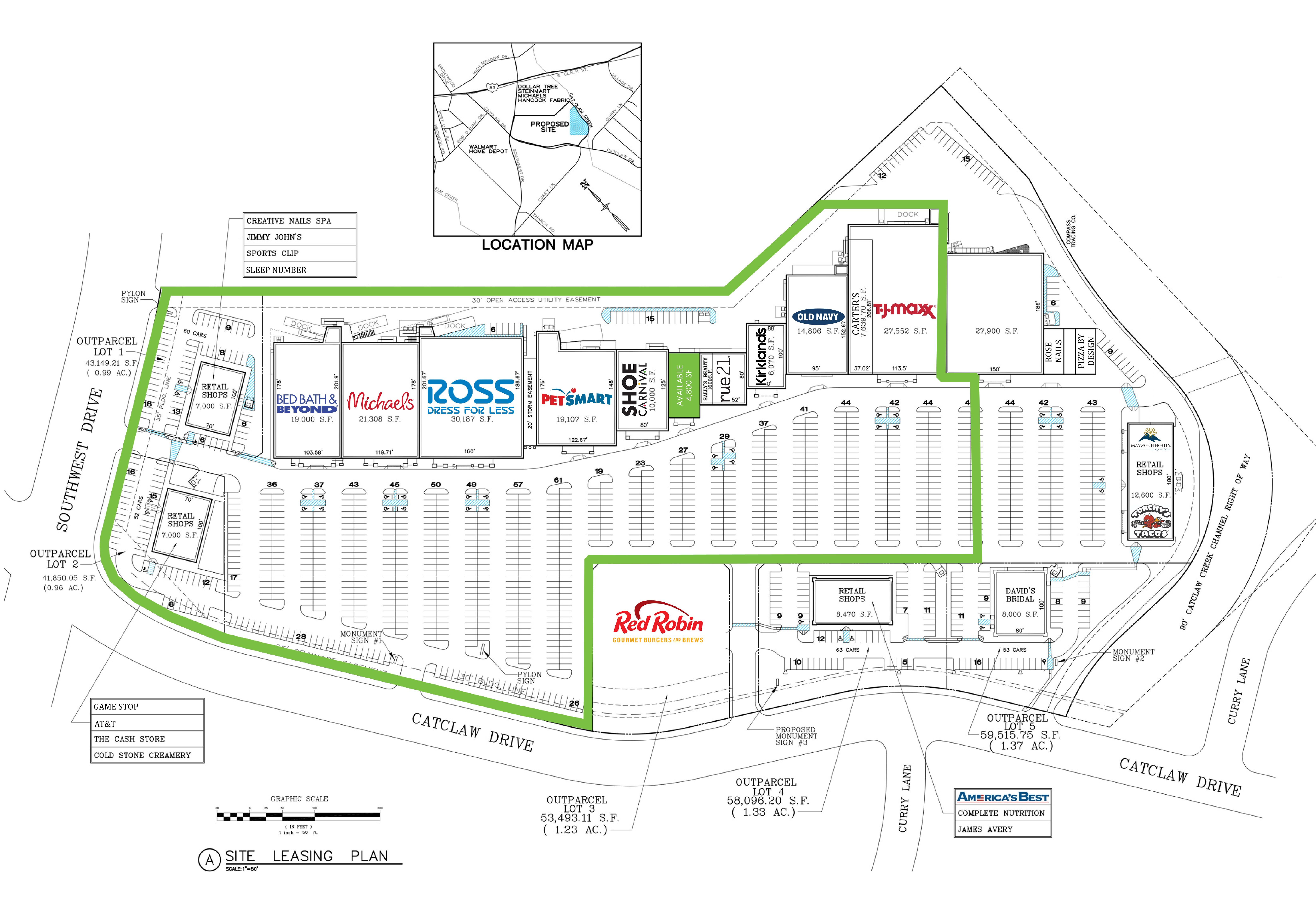 The Shops at Abilene: site plan