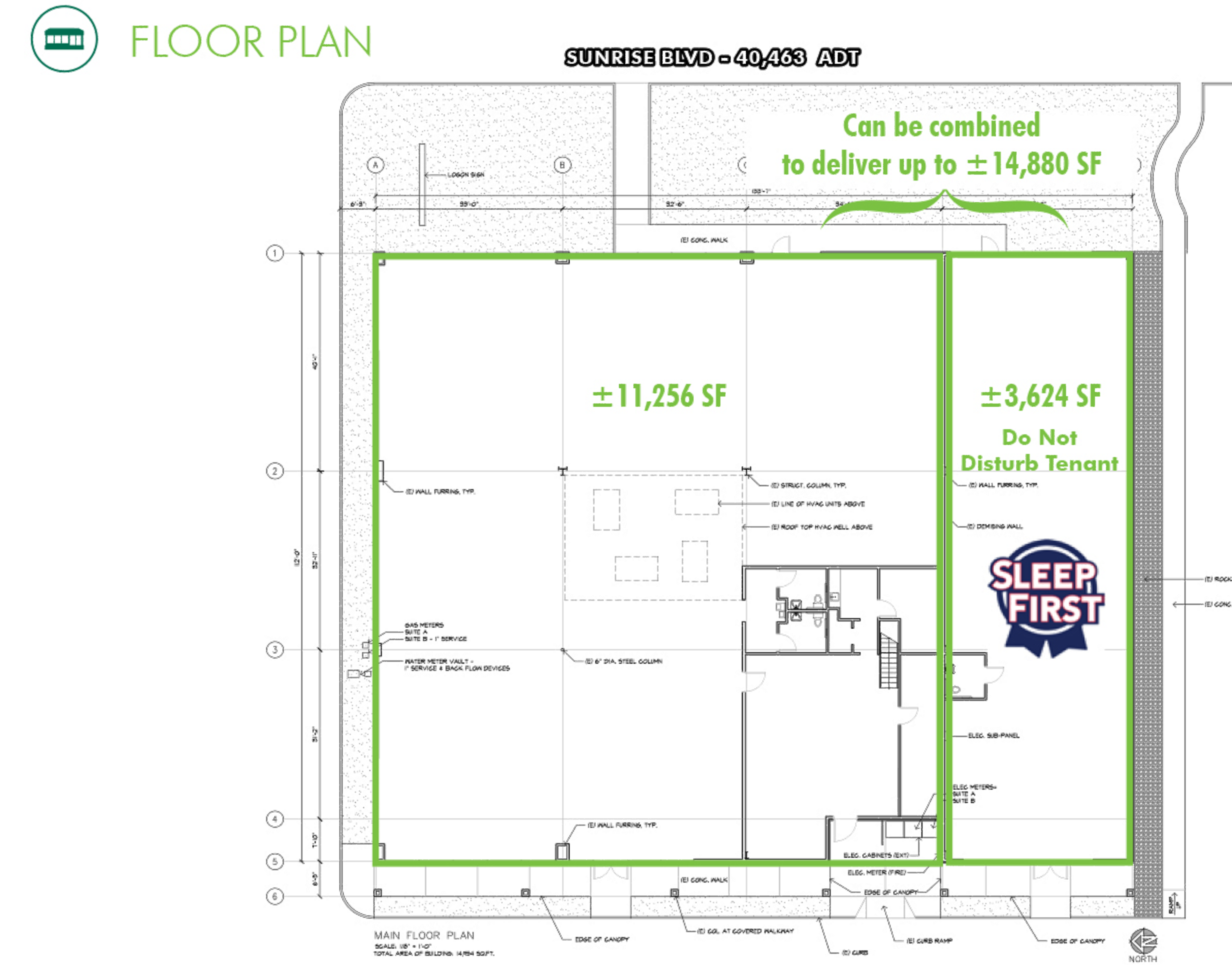 Anchor Space in the Sunrise Marketplace: site plan