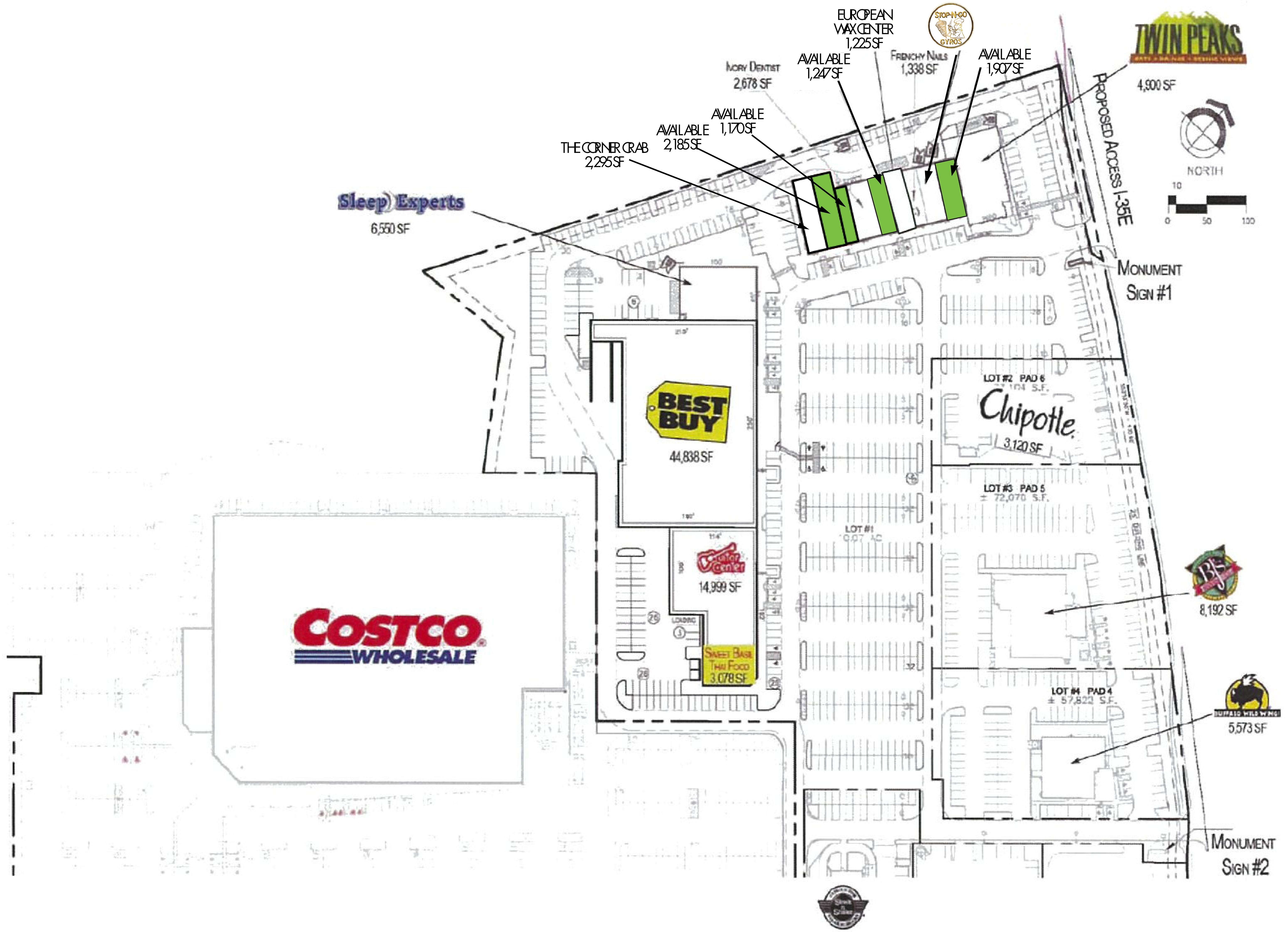 Vista Ridge Marketplace: site plan
