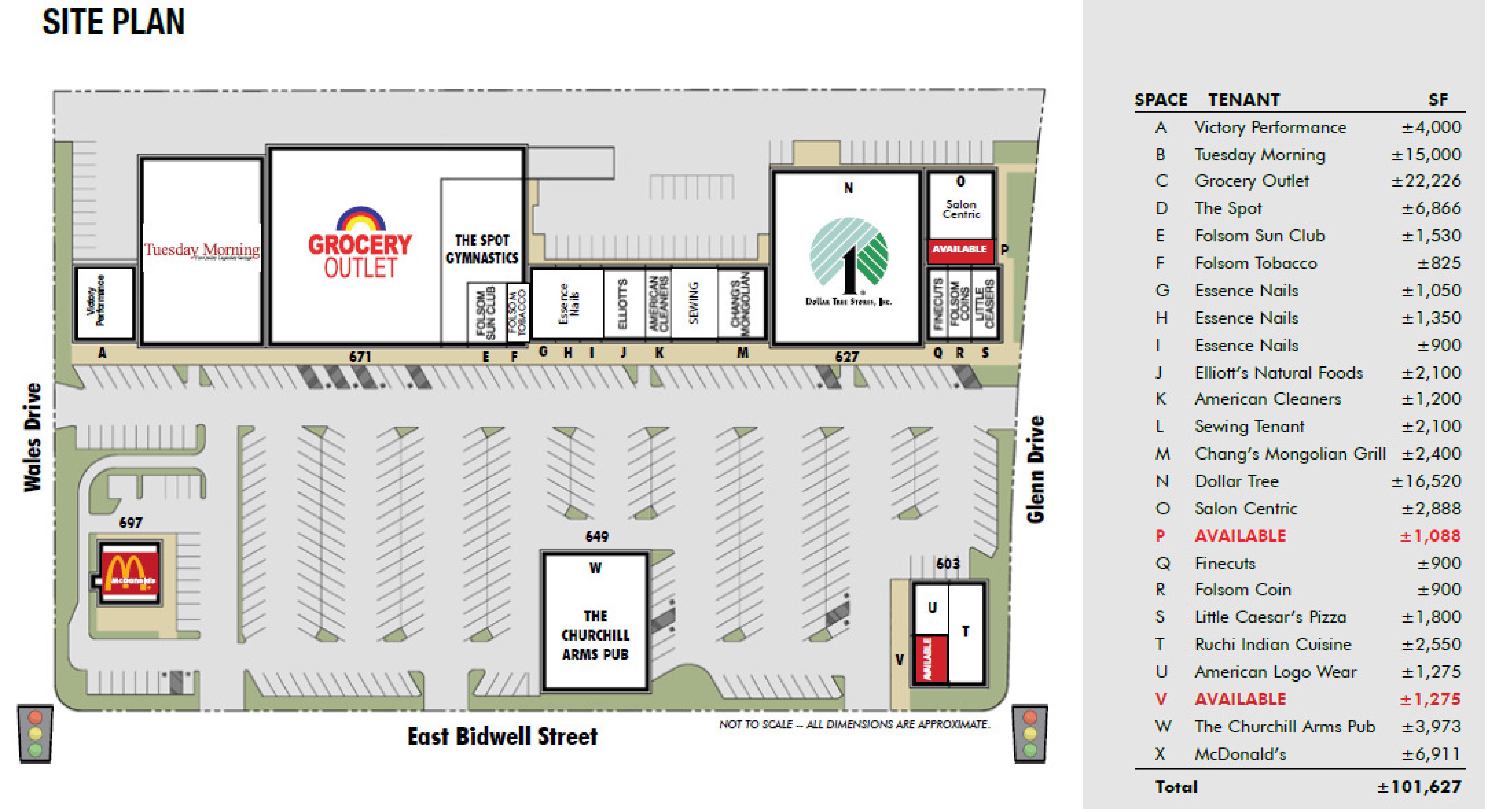 Folsom Faire: site plan