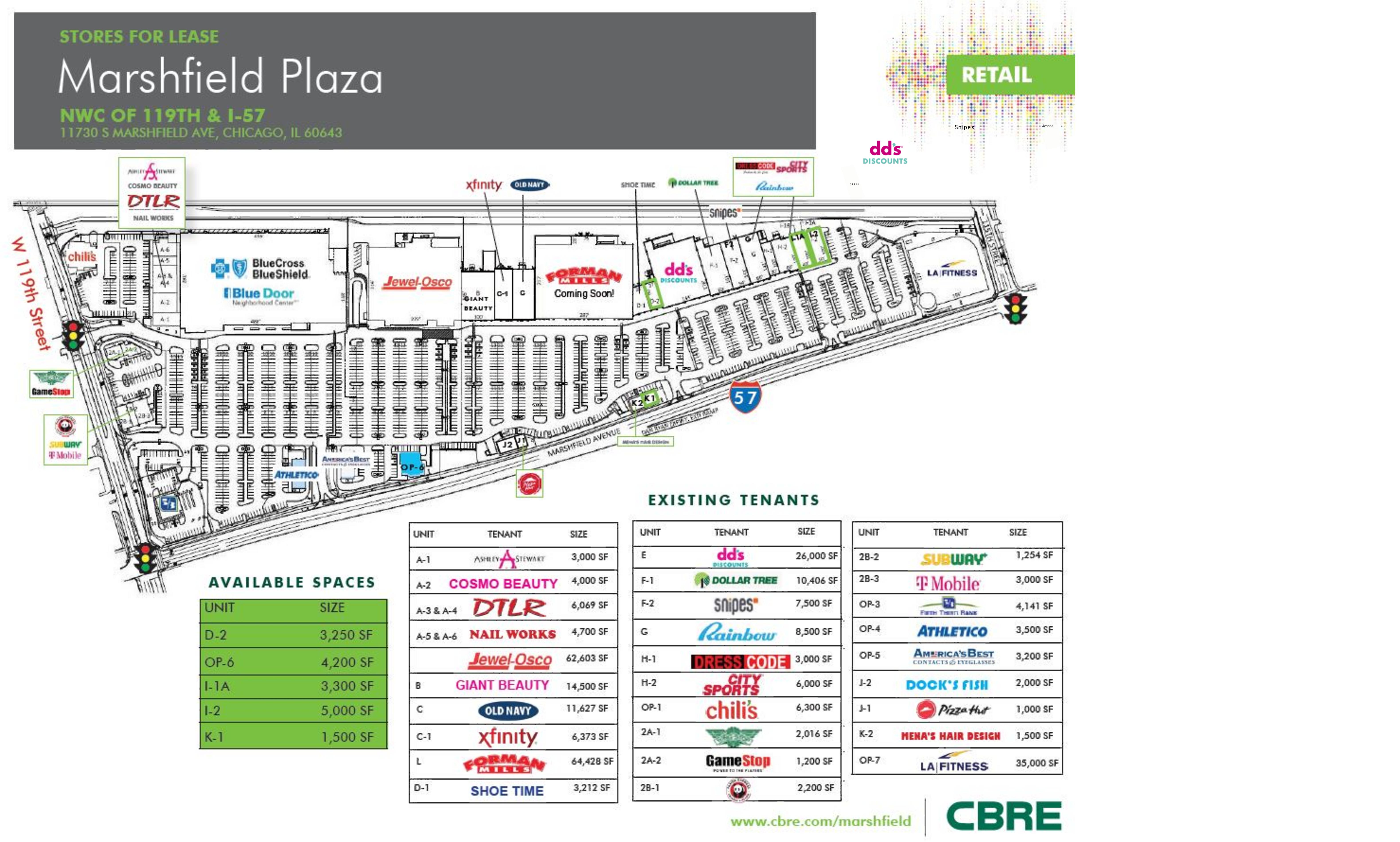 Marshfield Plaza: site plan