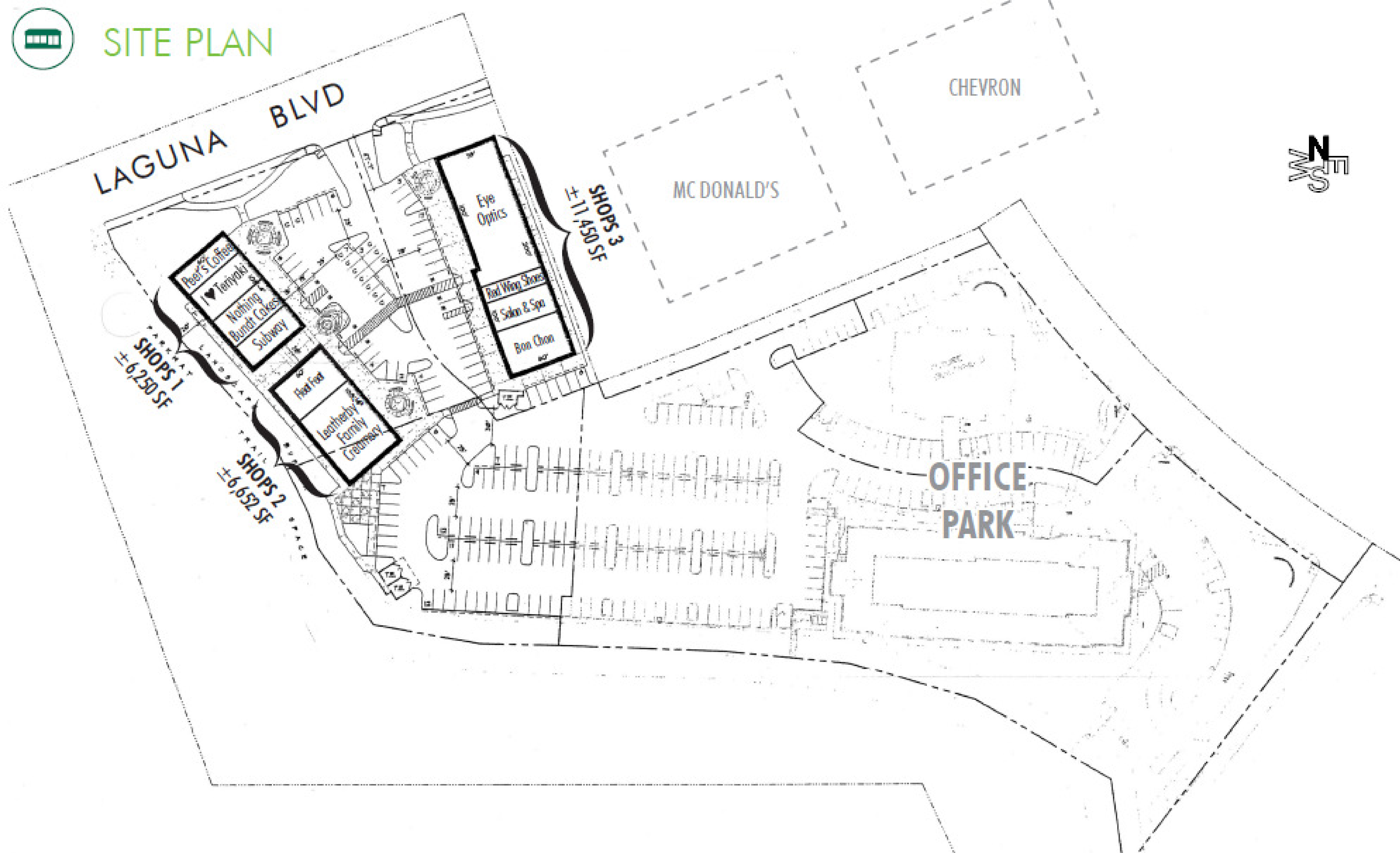 Laguna Gateway South: site plan