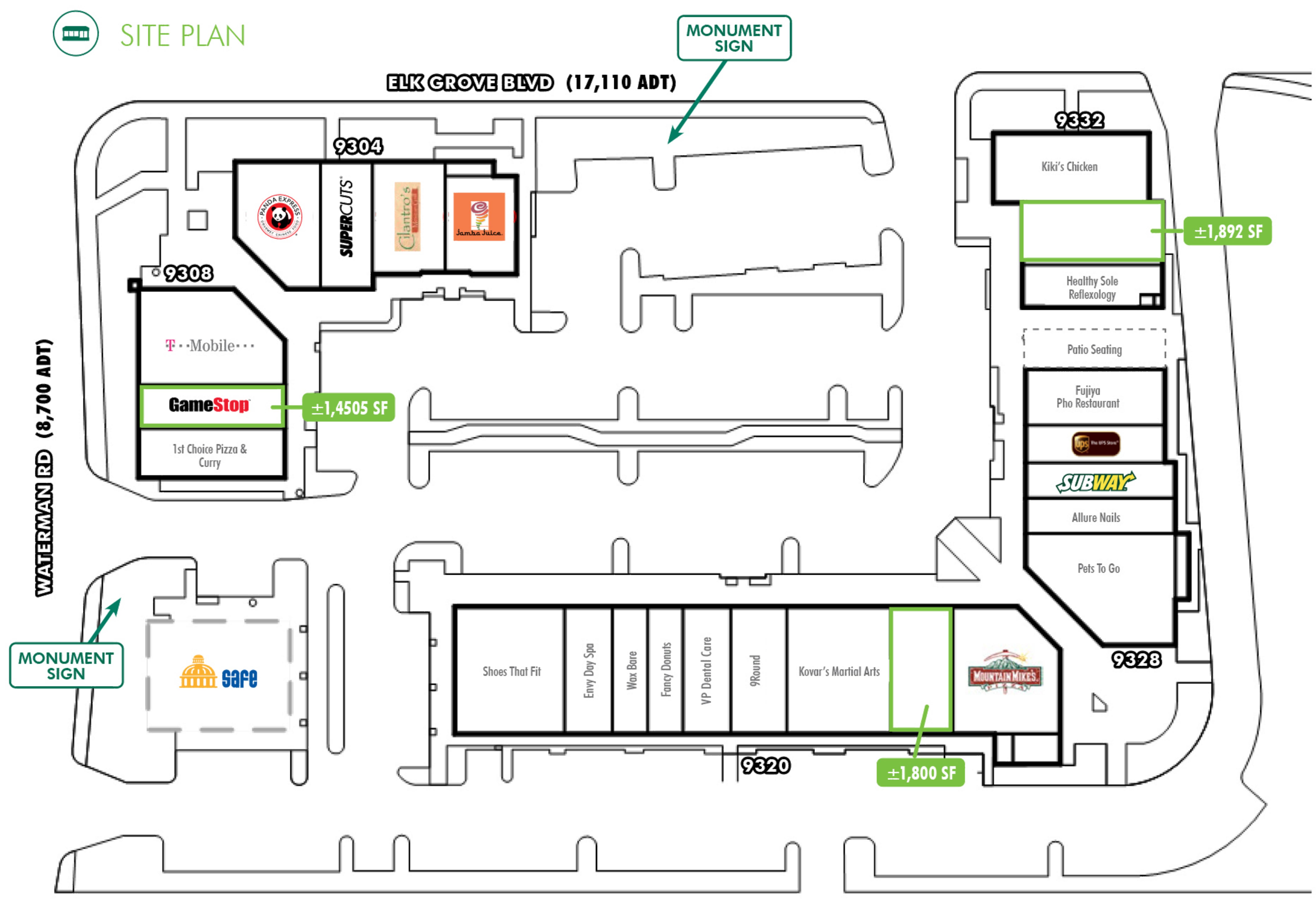 Waterman Grove Plaza: site plan