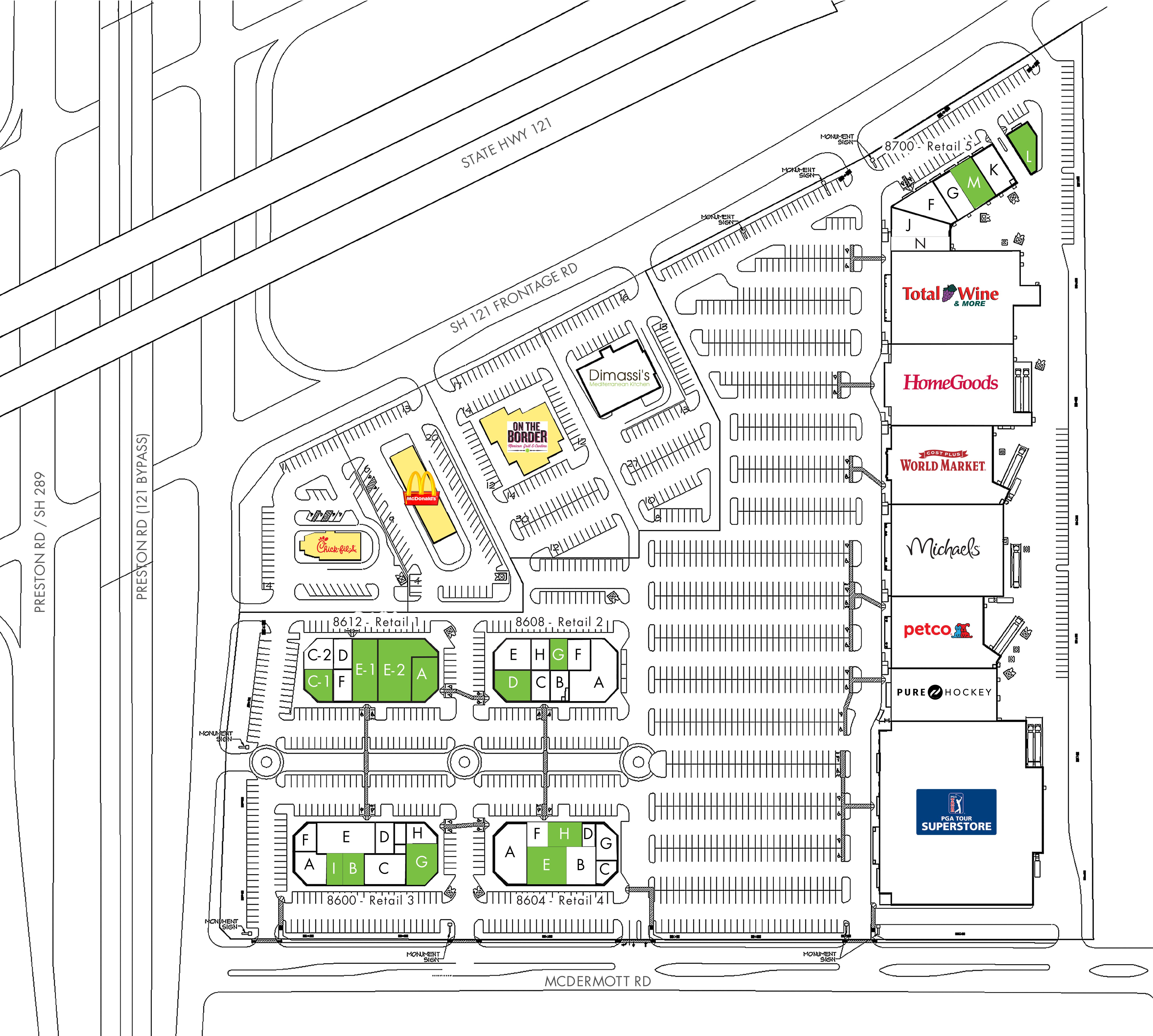 Preston Village Center: site plan