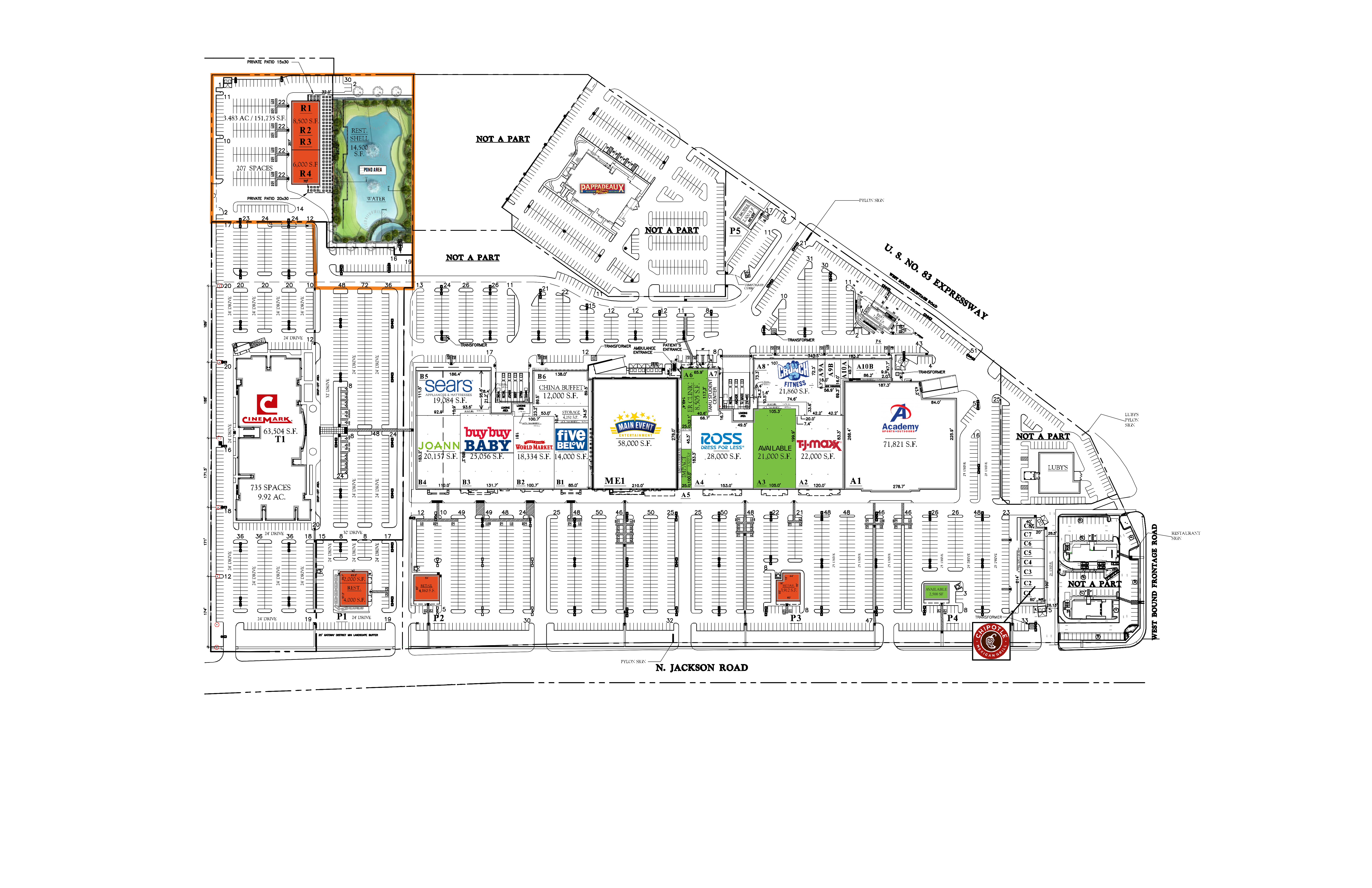 Pharr Town Center: site plan