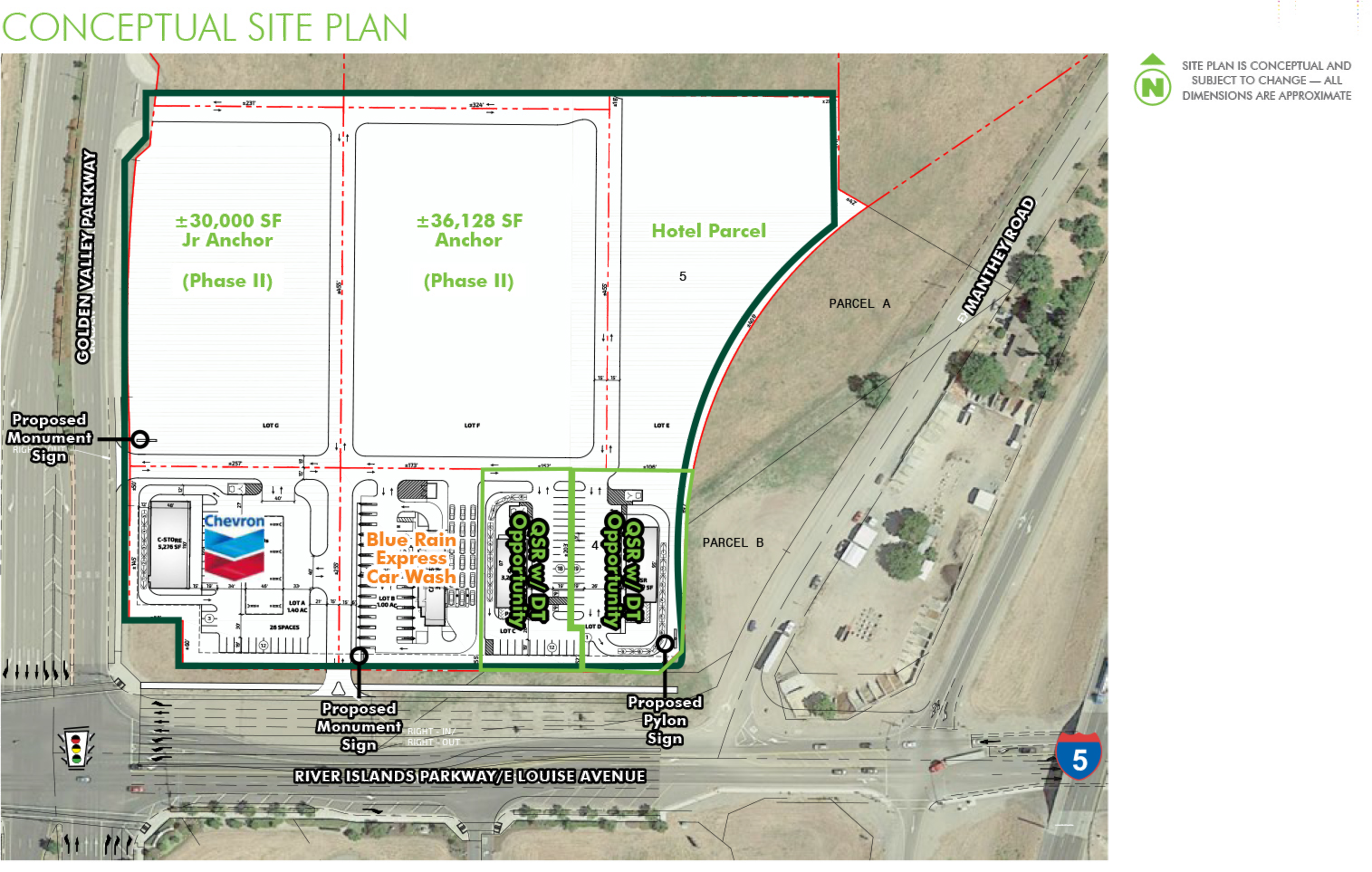 Highway Commercial Pad - I-5 & Louise: site plan