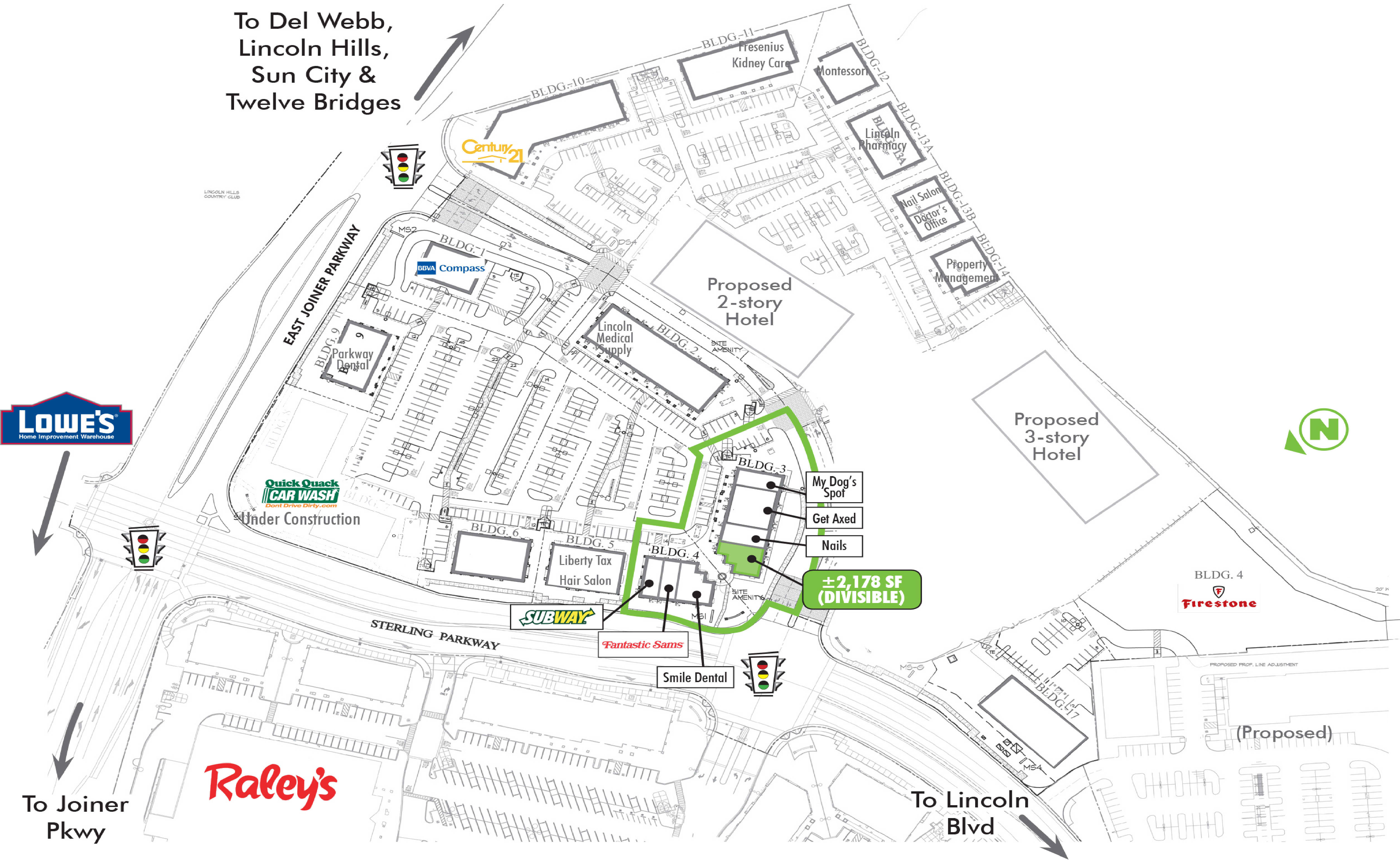 Villages at Sterling Pointe: site plan