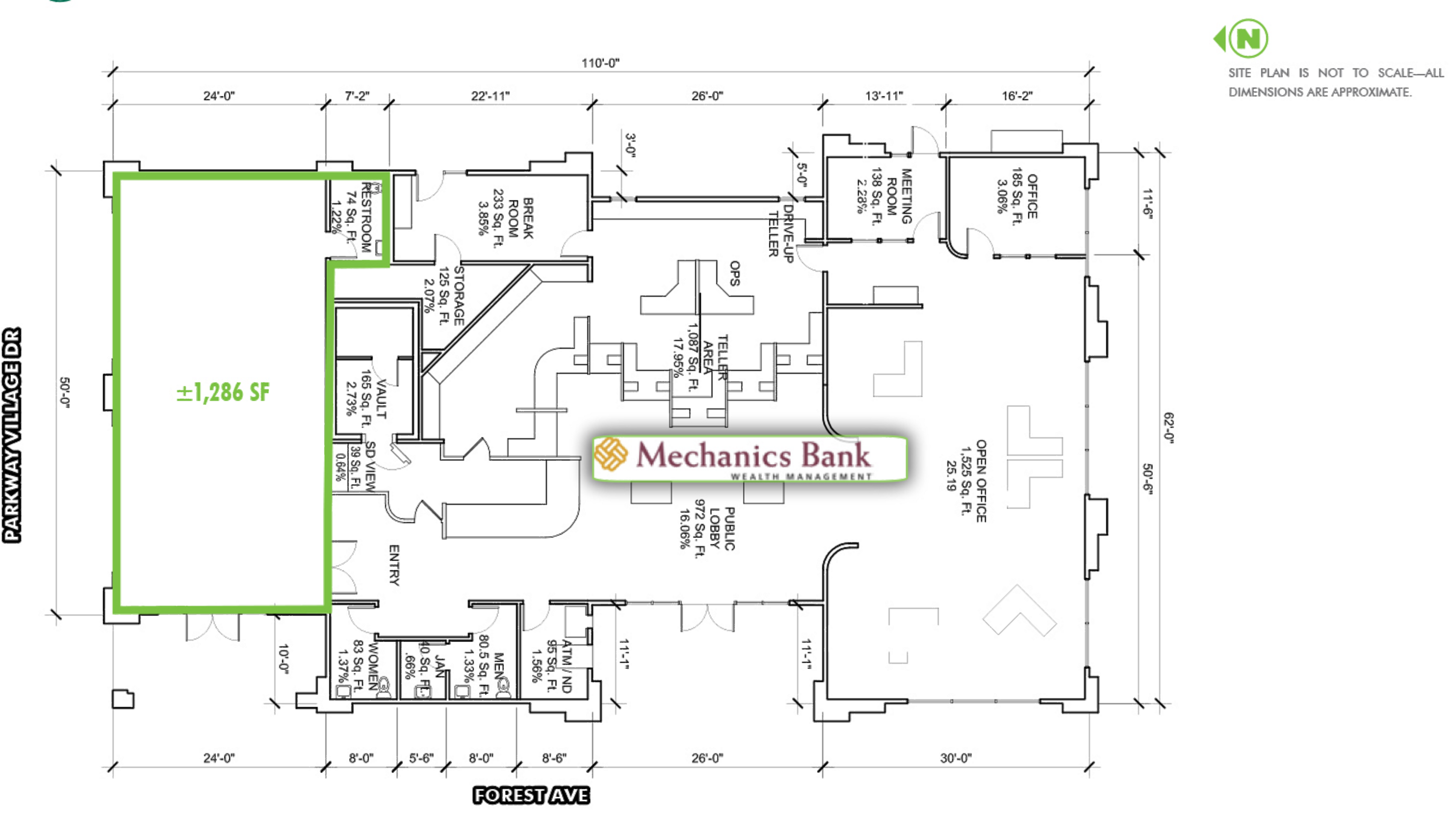 237 W East Ave: site plan