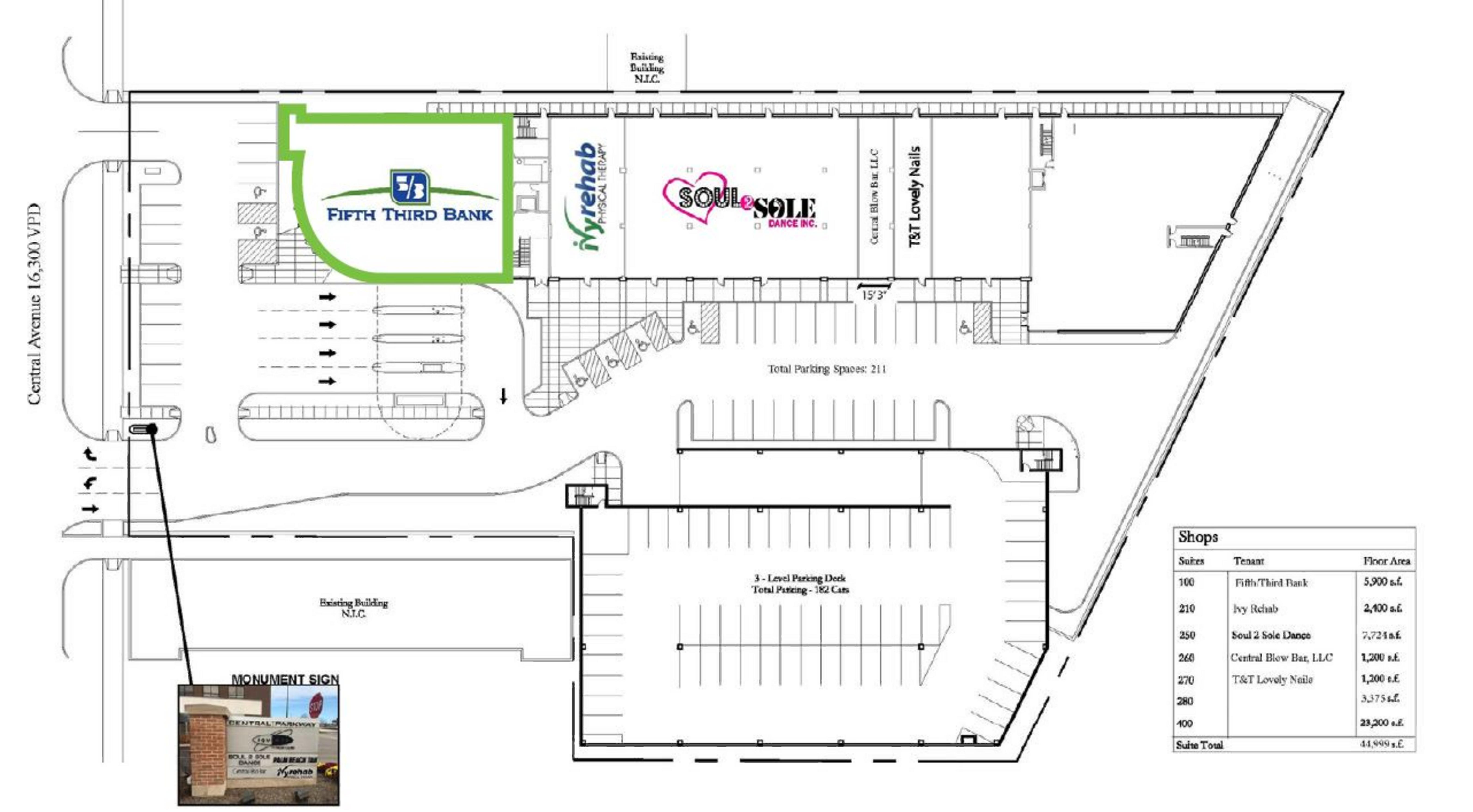 799 Central Avenue: site plan