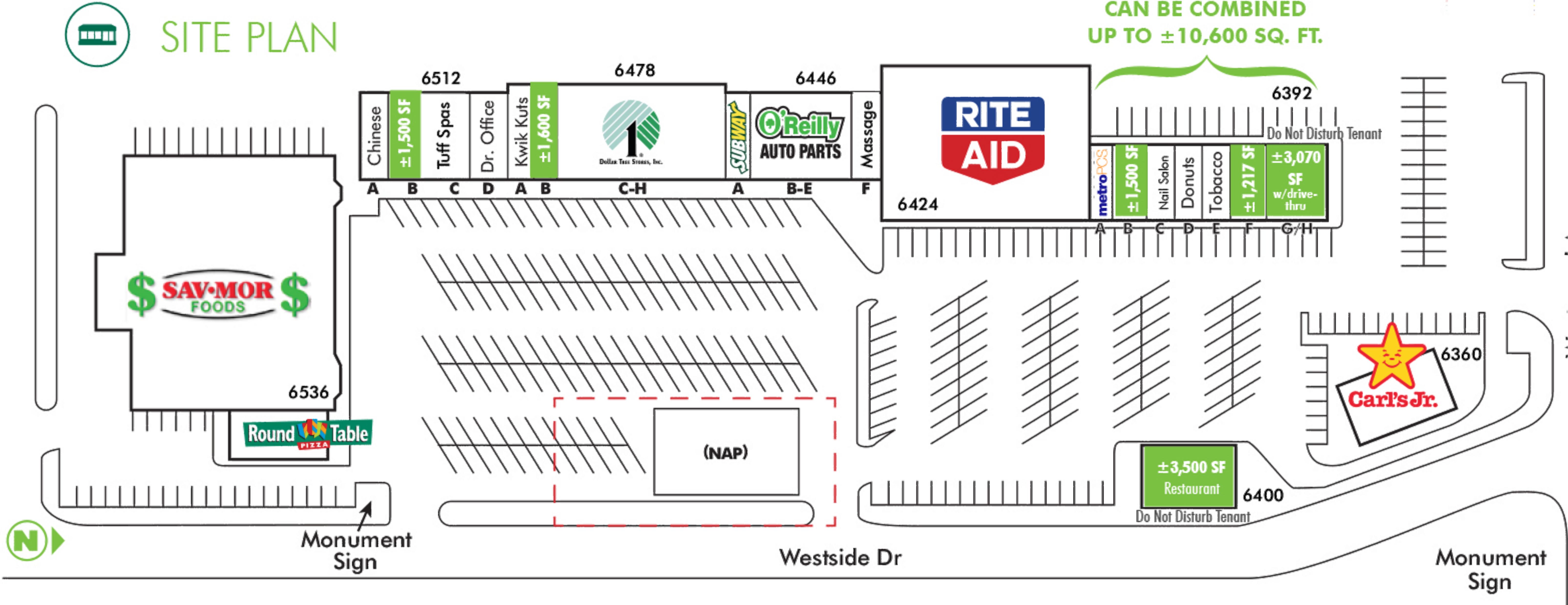Westwood Village: site plan