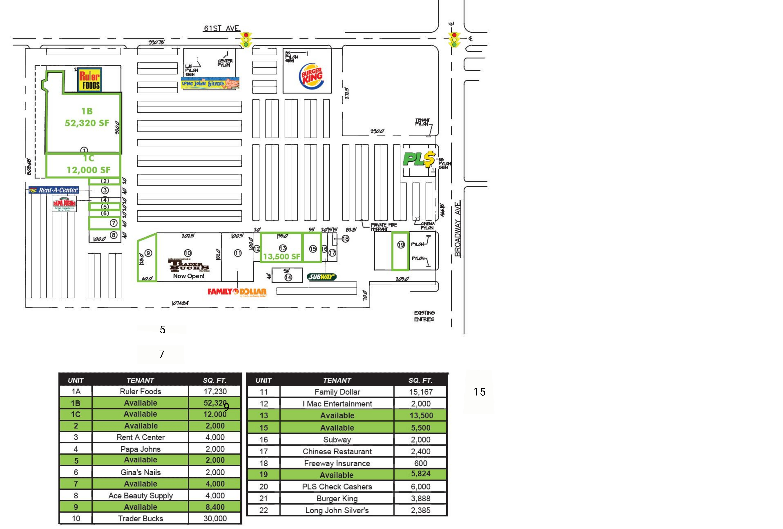 Crossroads Plaza: site plan
