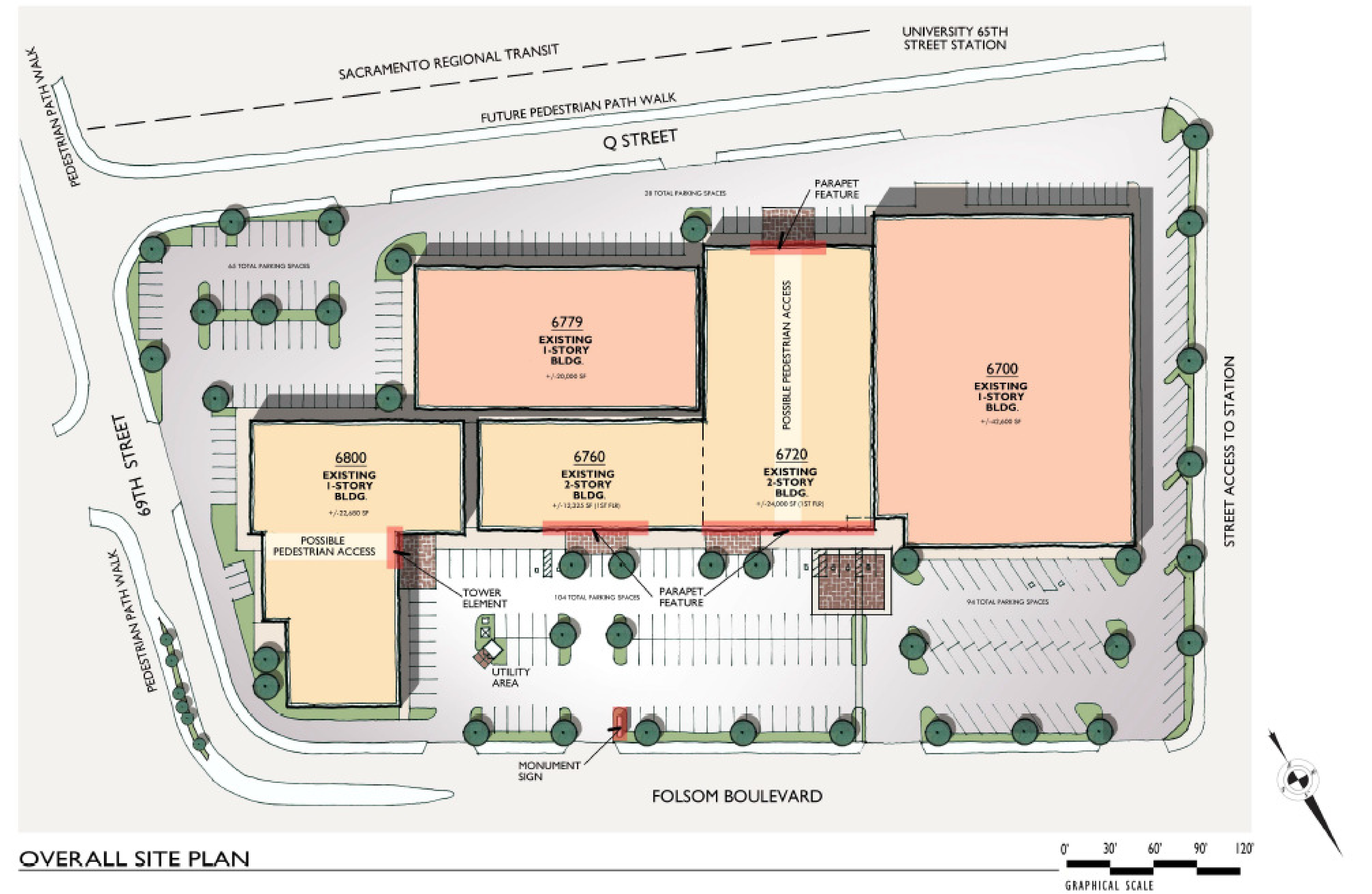 The Shops at University Station: site plan