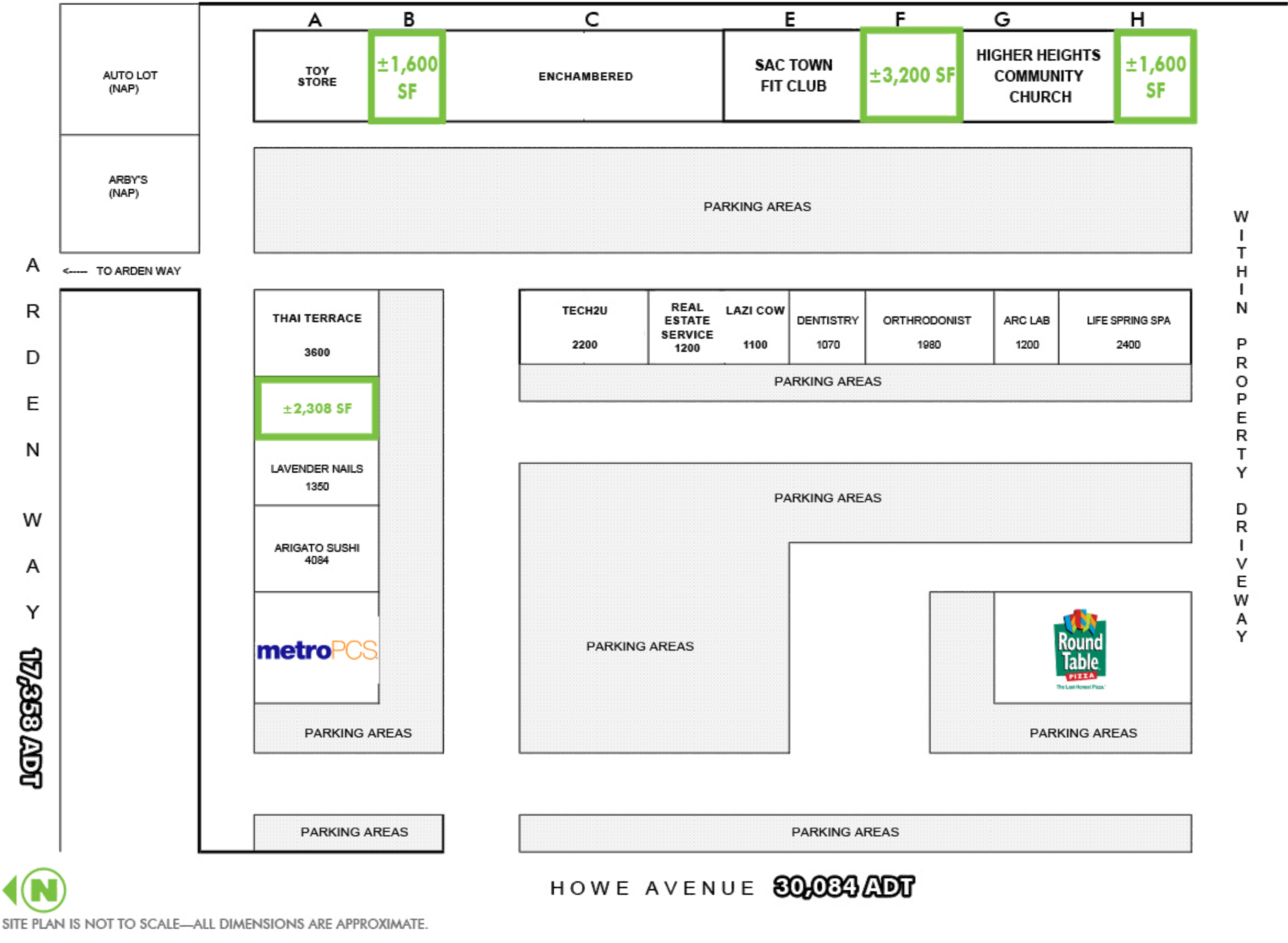 Arden Howe Plaza: site plan