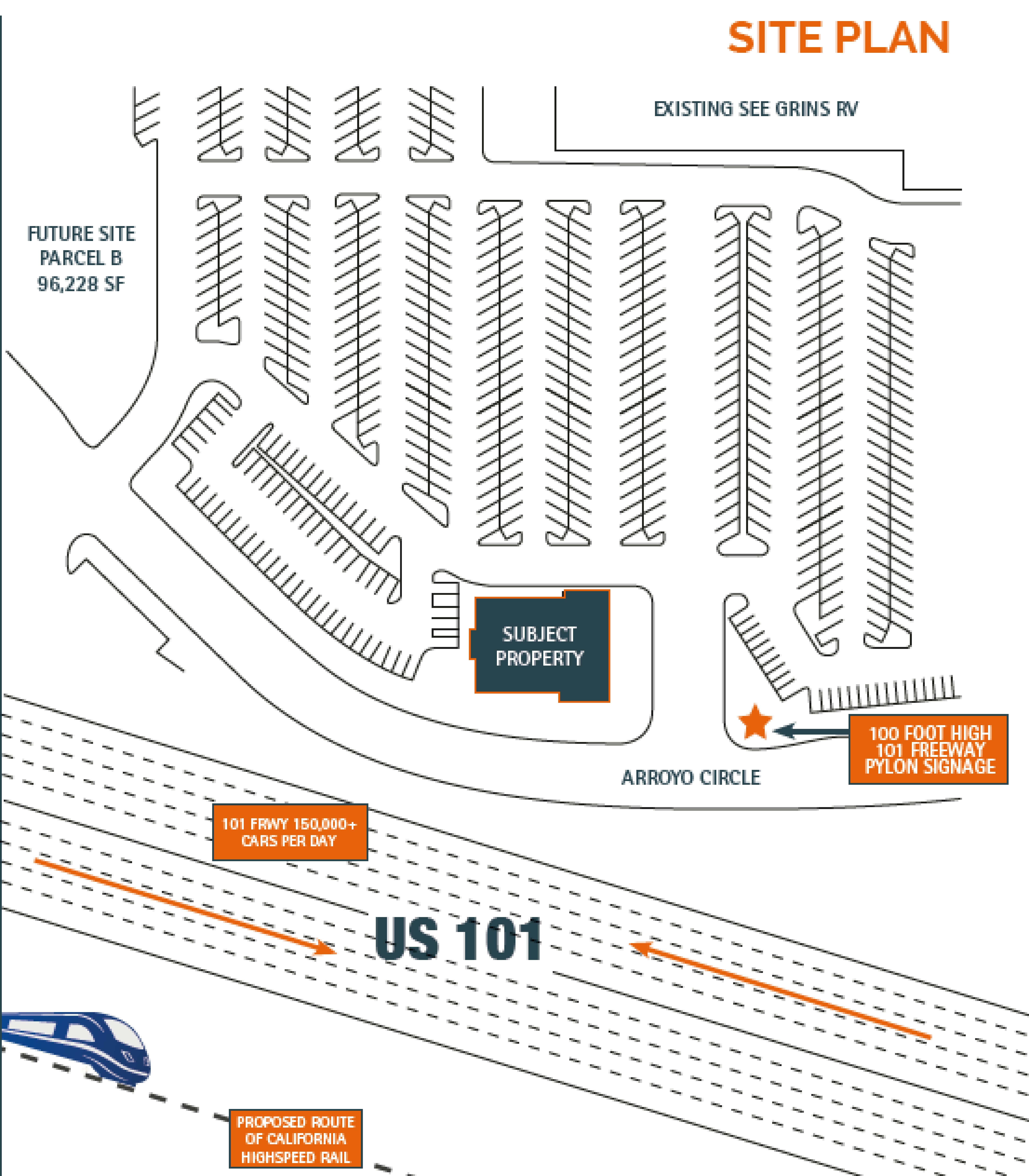 7950 Arroyo: site plan
