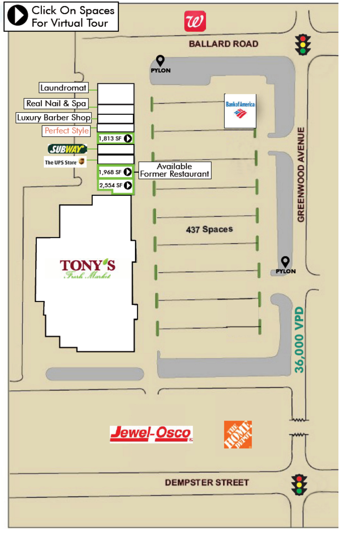Ballard Plaza: site plan