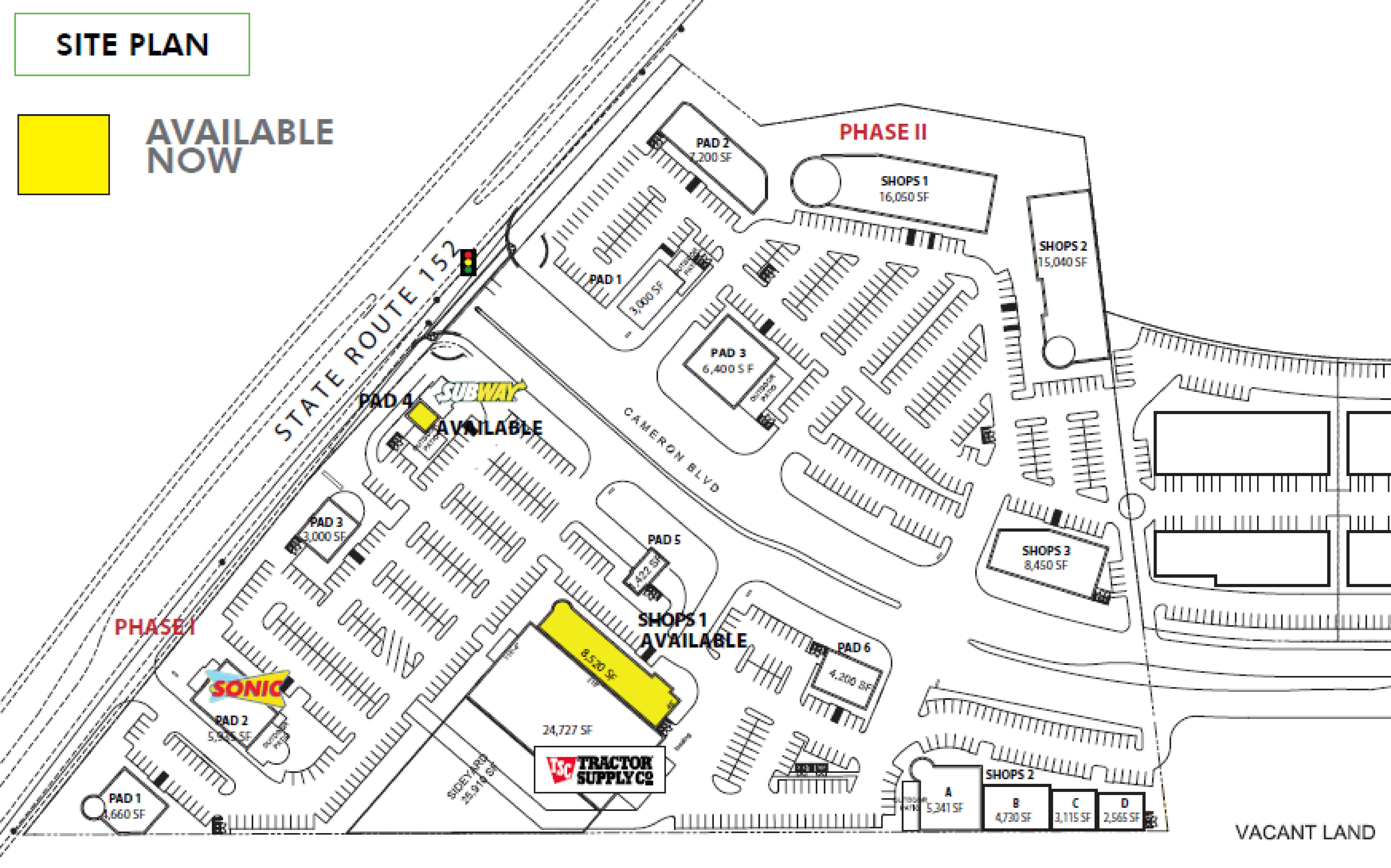 McCarthy Retail Center: site plan