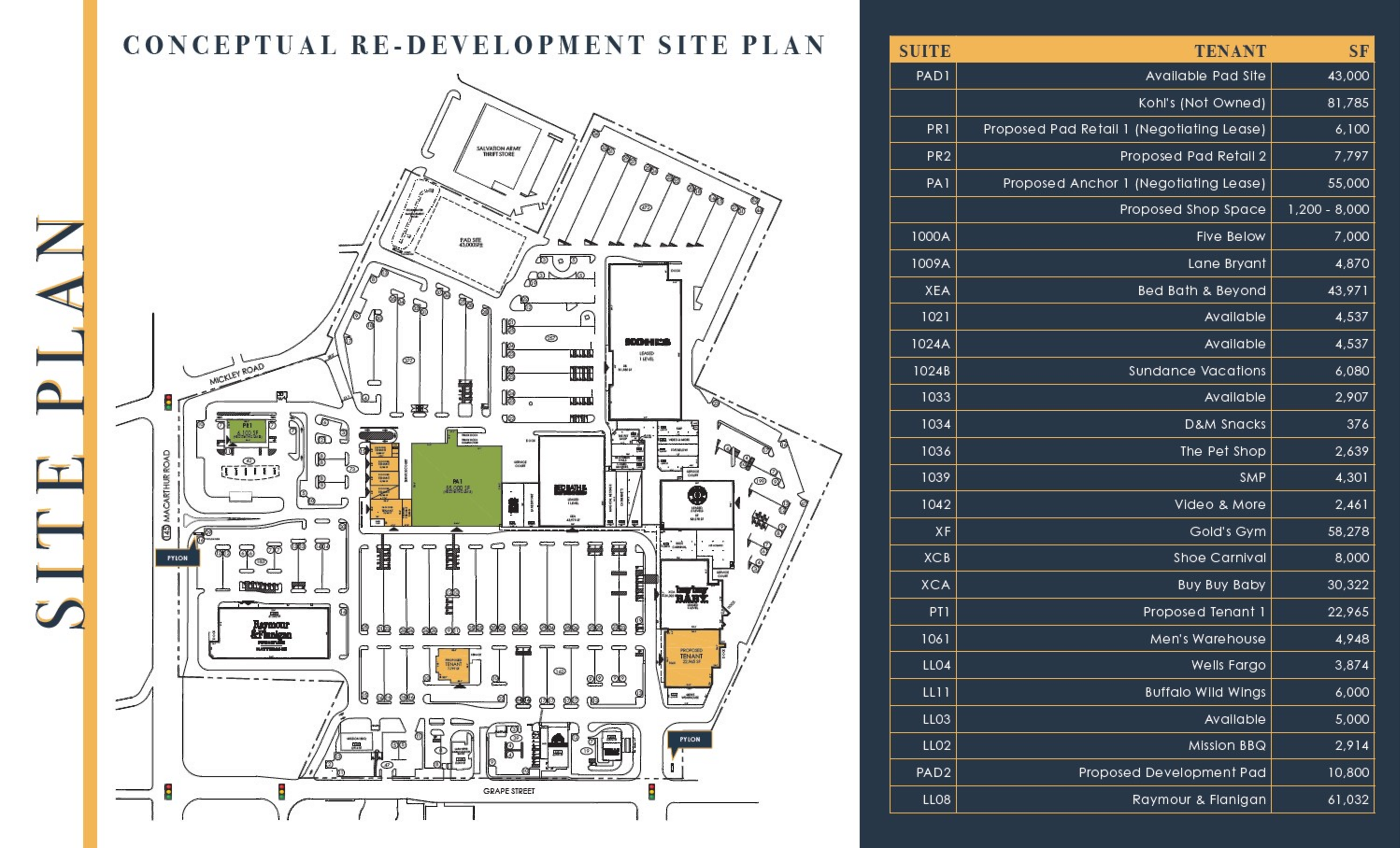 Whitehall Mall: site plan