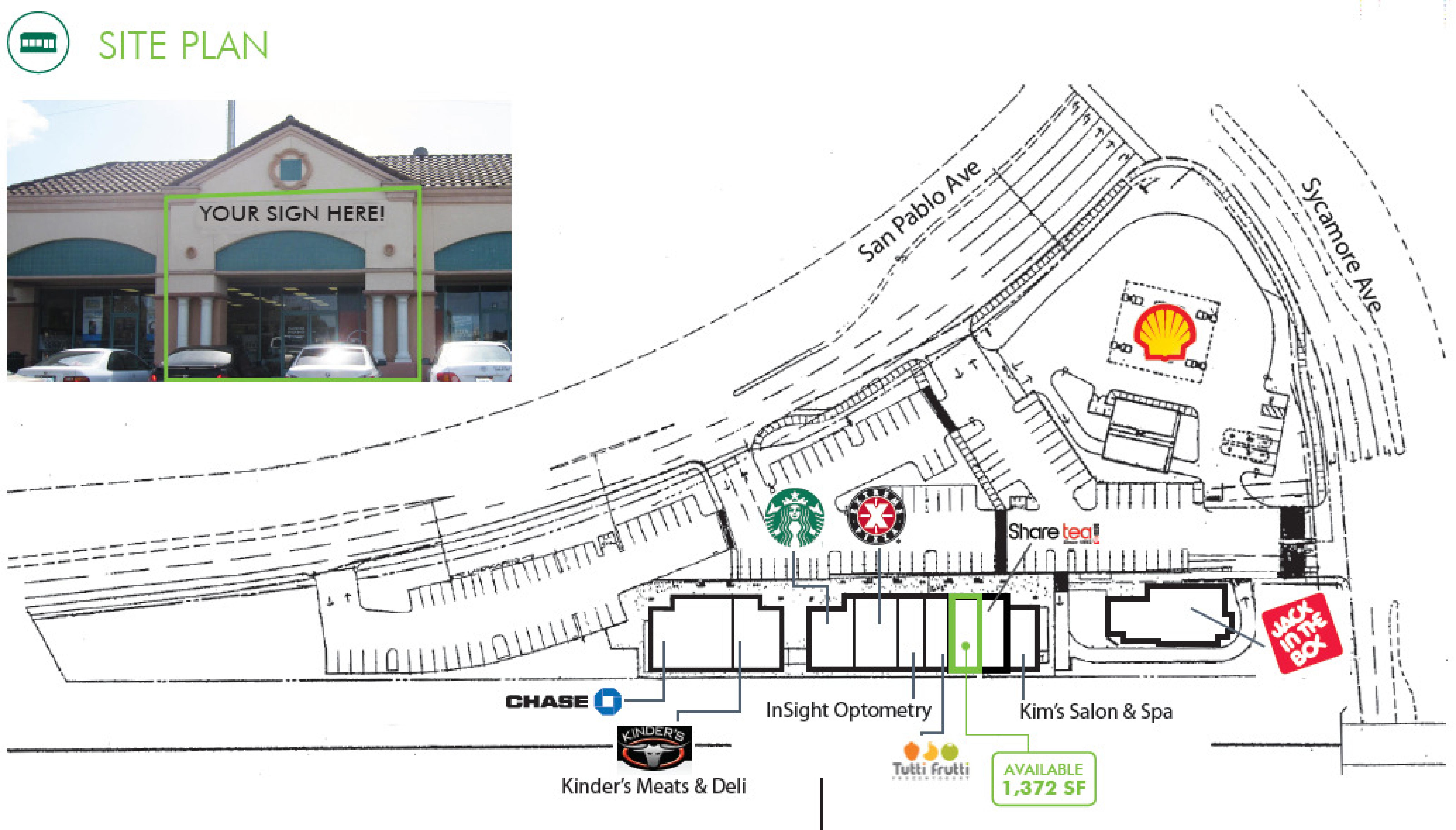 Hercules Retail Center: site plan