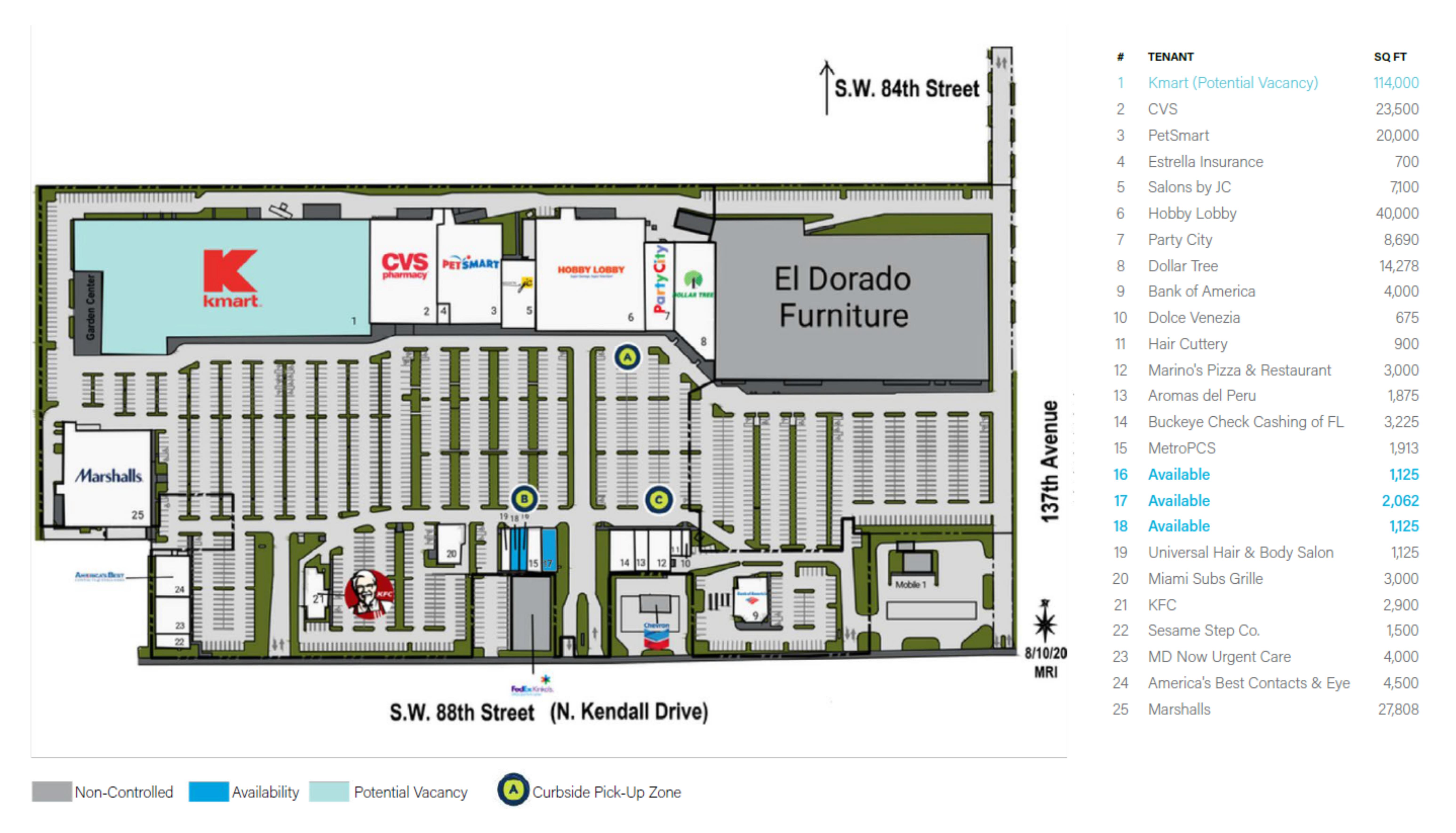 Kendale Lakes: site plan