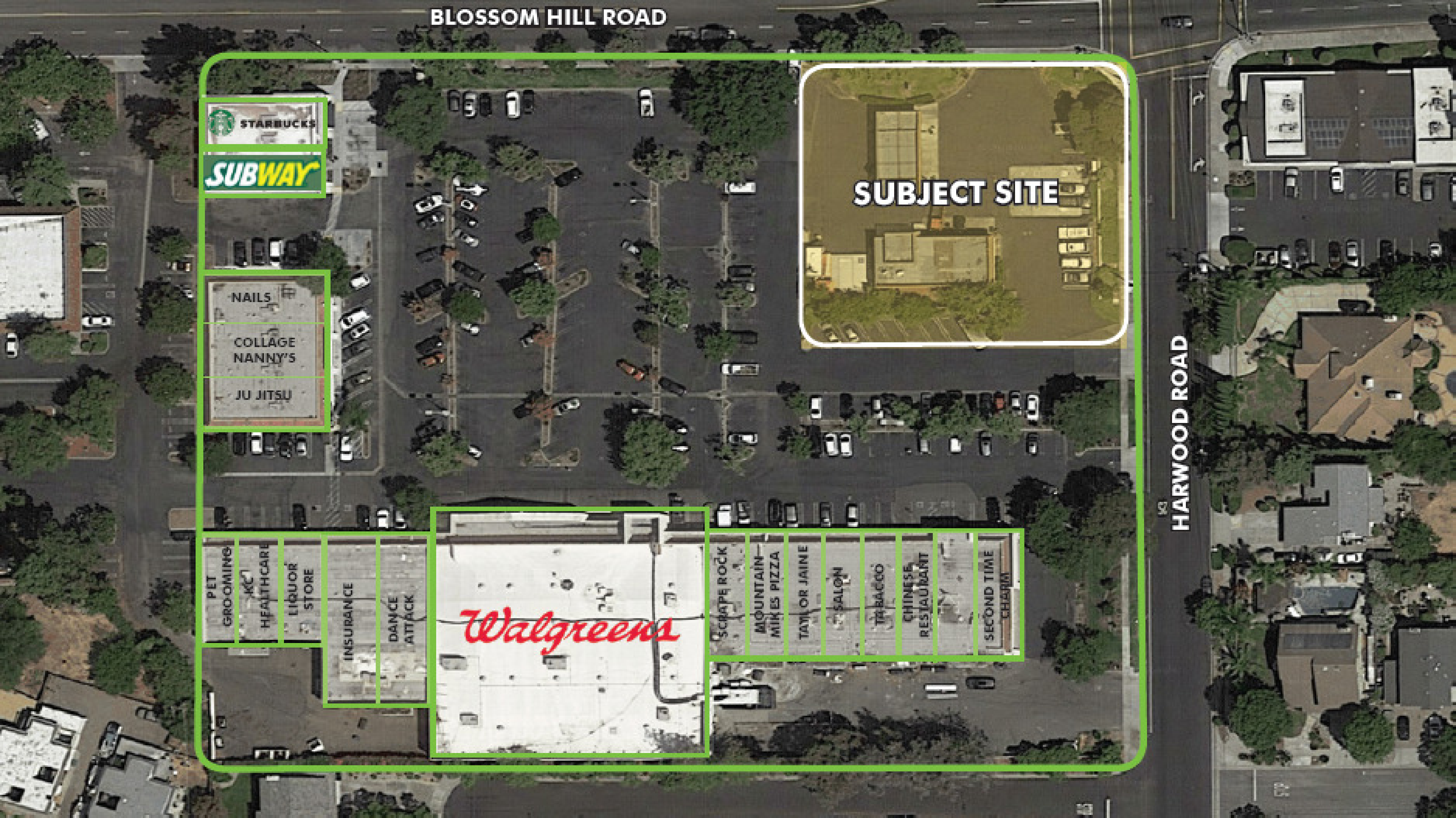 14000 Blossom Hill Rd: site plan