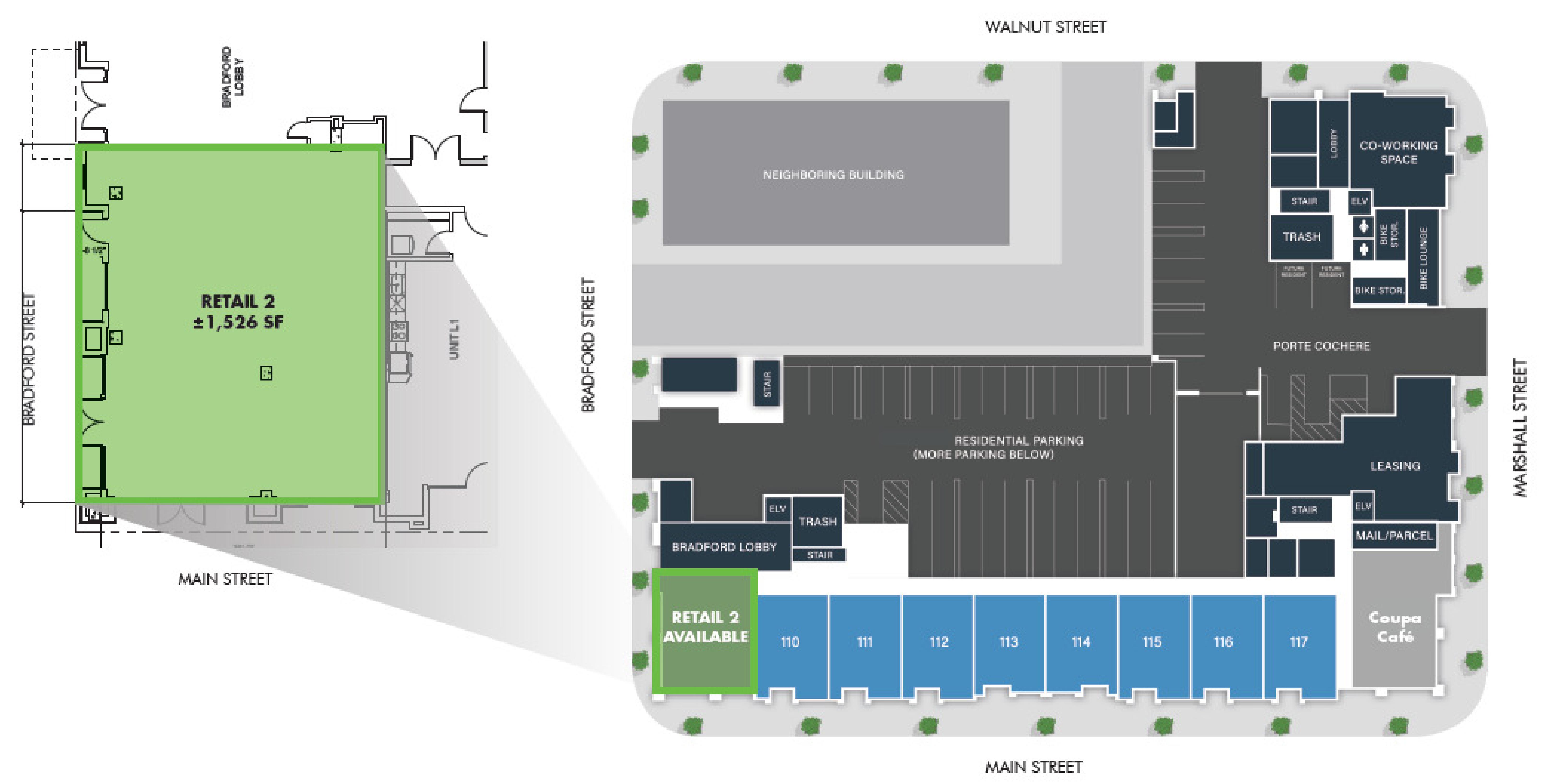 The Marston: site plan