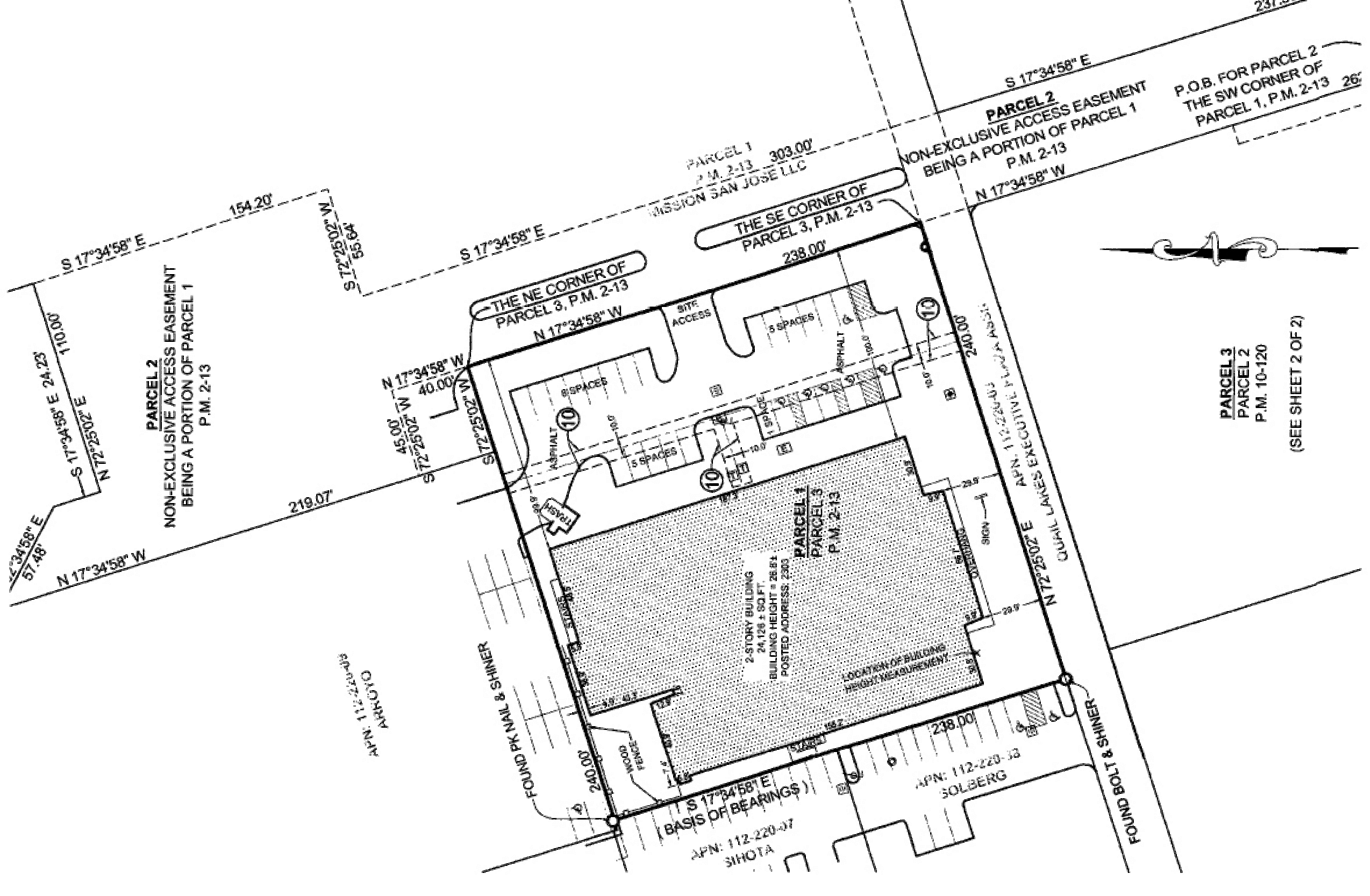 Former Fitness Facility - 2303 W March Lane: site plan