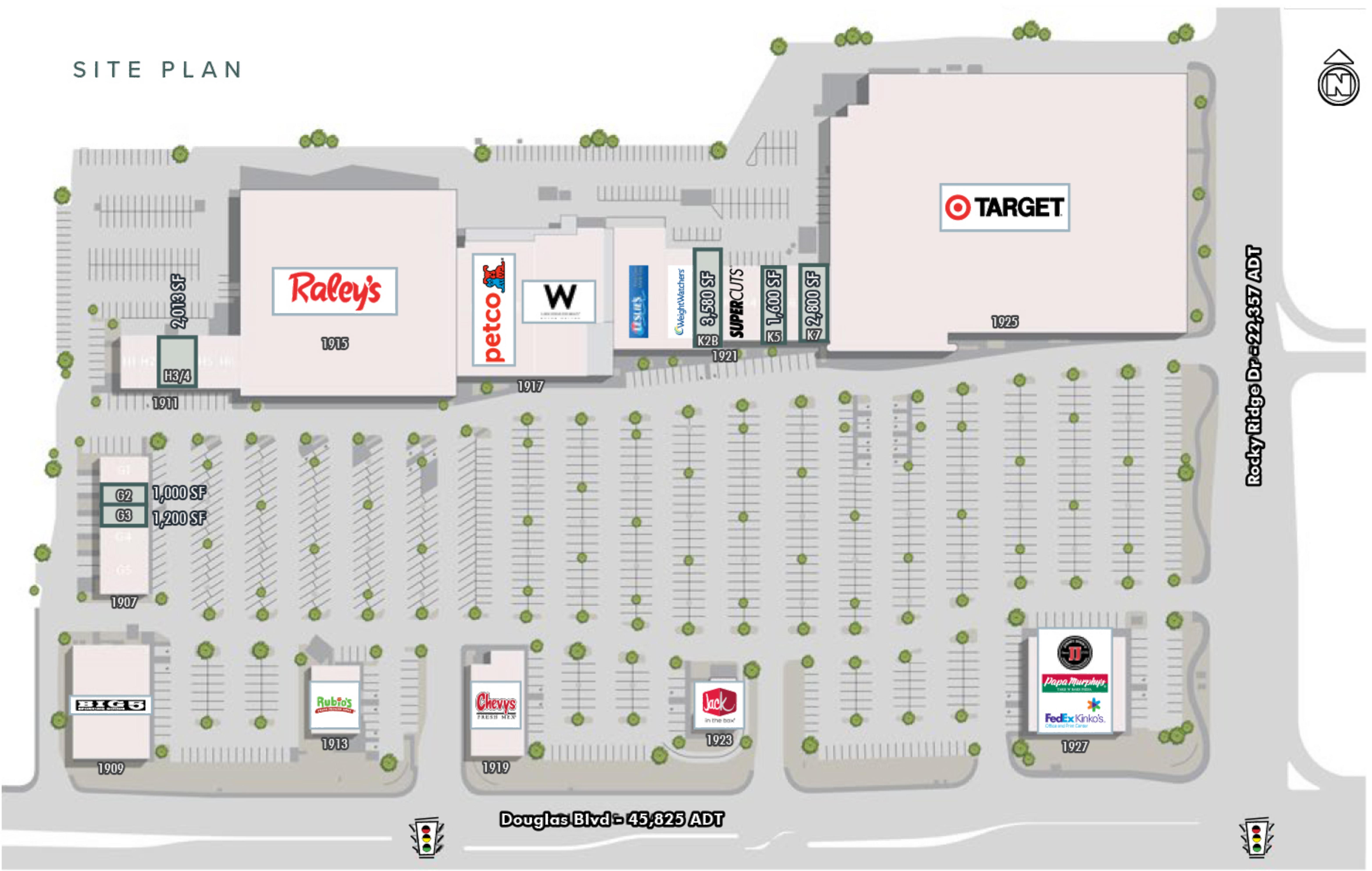 Roseville Center: site plan