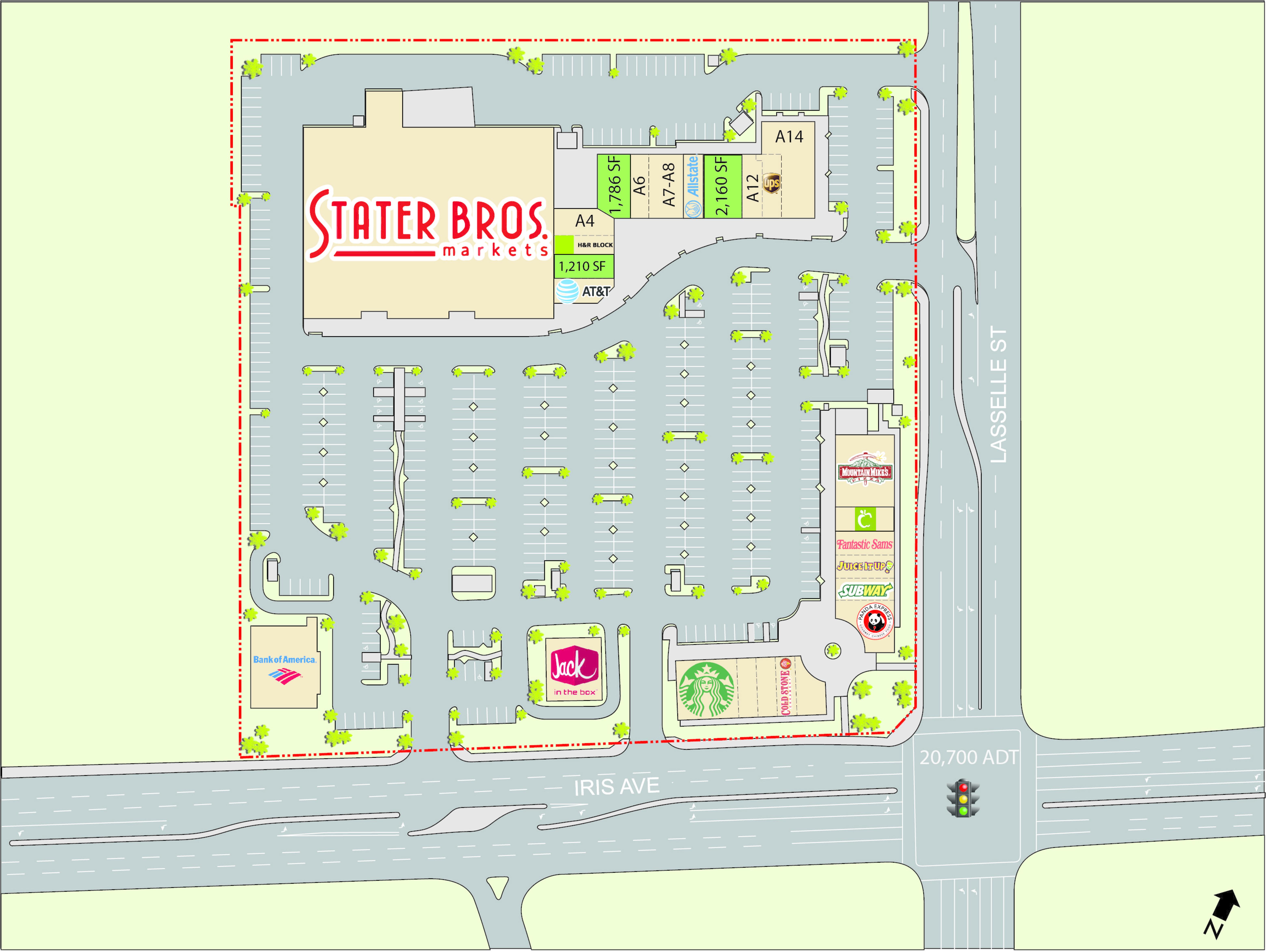 Moreno Valley-Lakeside Plaza: site plan
