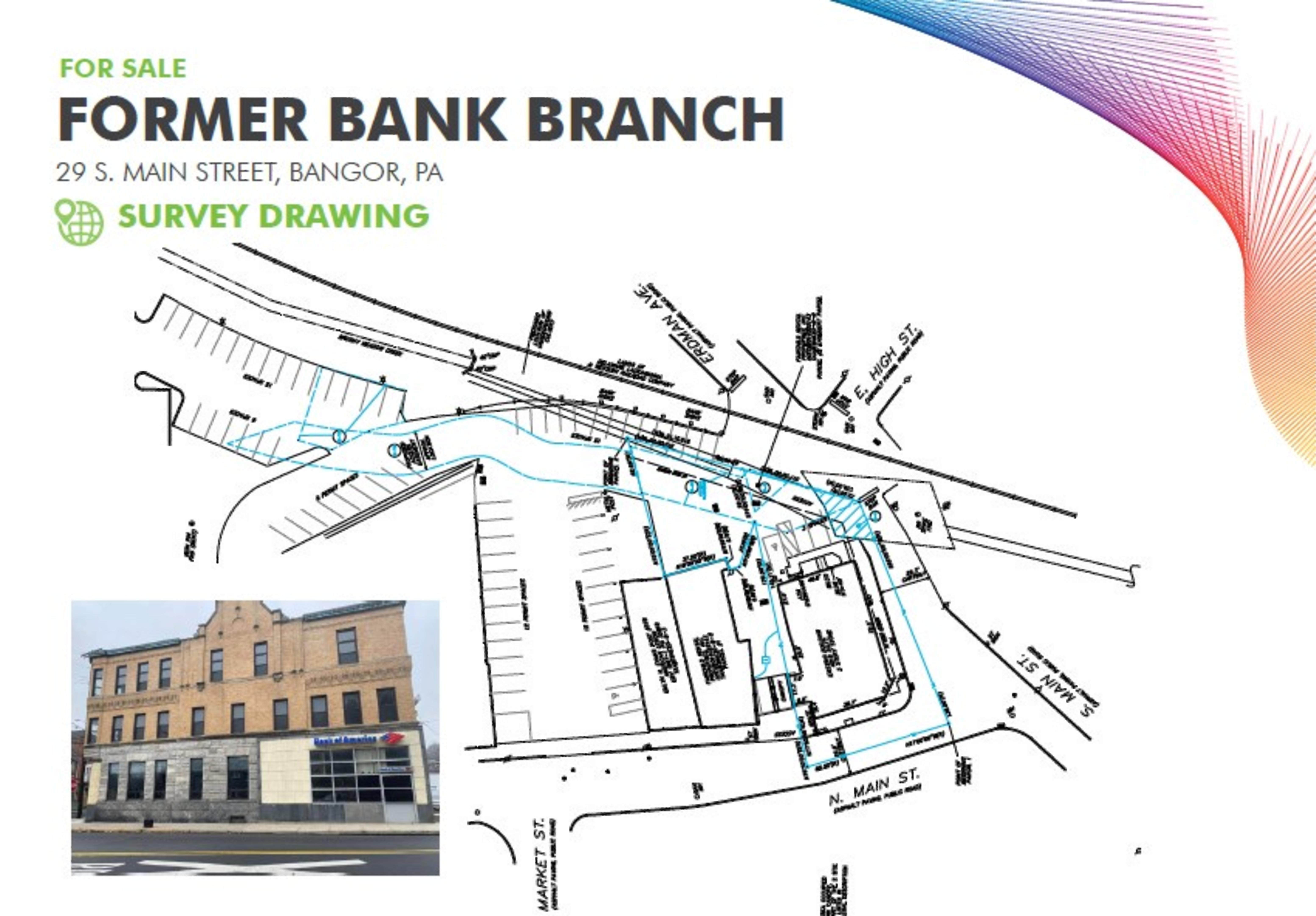 Former Bank Branch - Bangor, PA: site plan