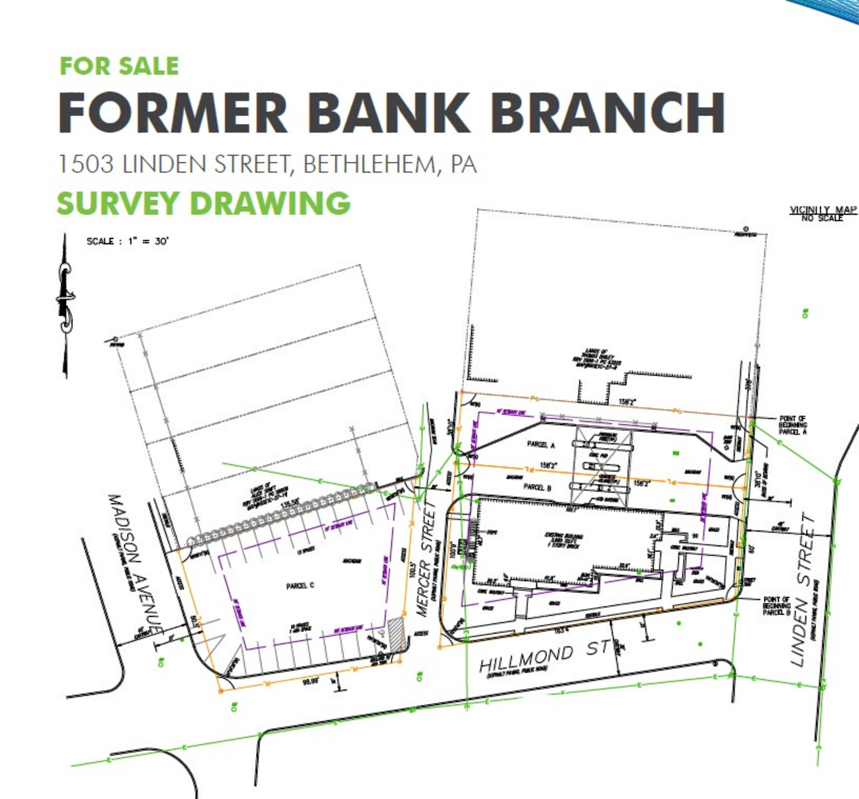 Former Bank Branch - Bethlehem, PA: site plan