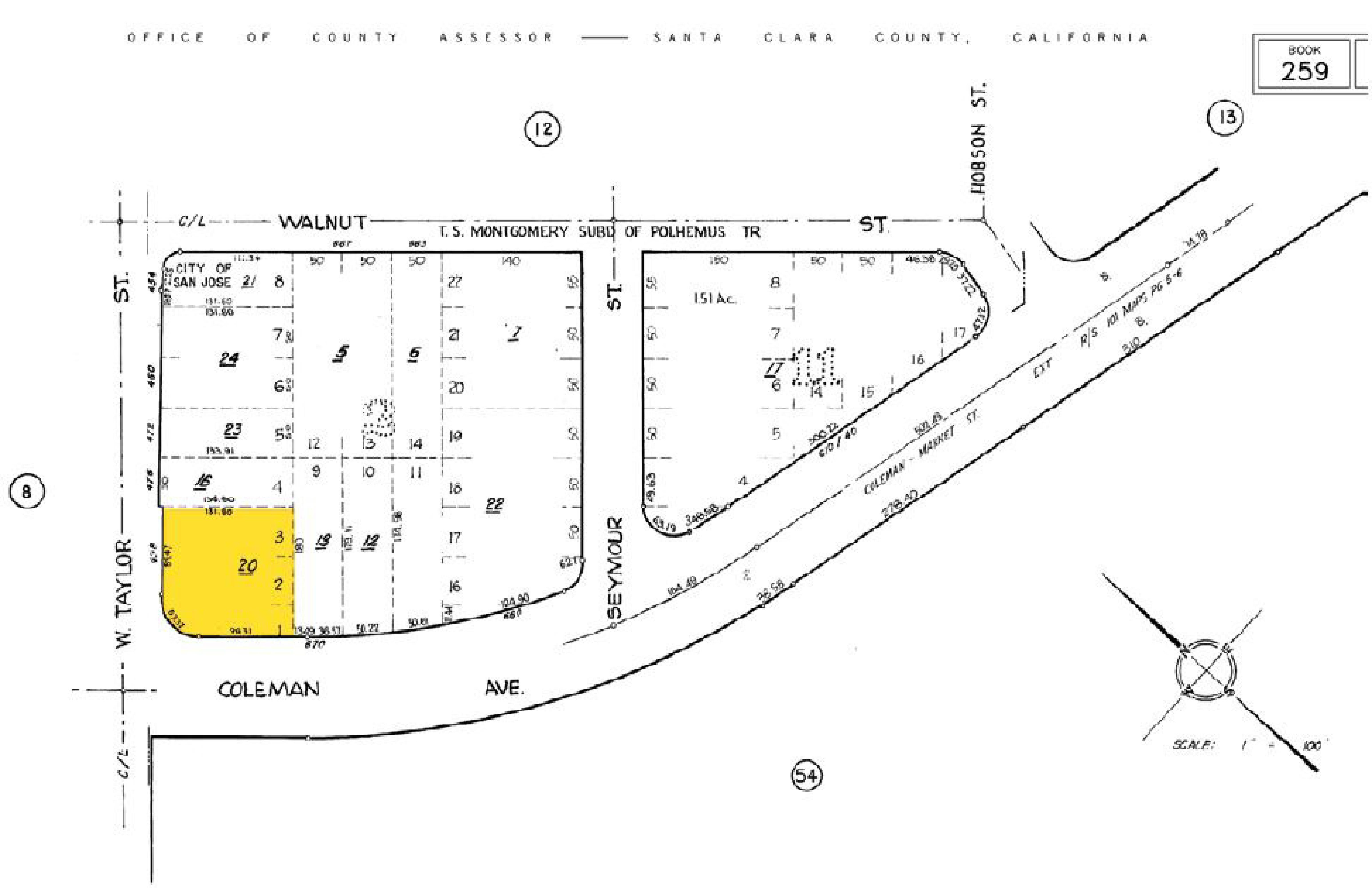 498 W. Taylor Street: site plan