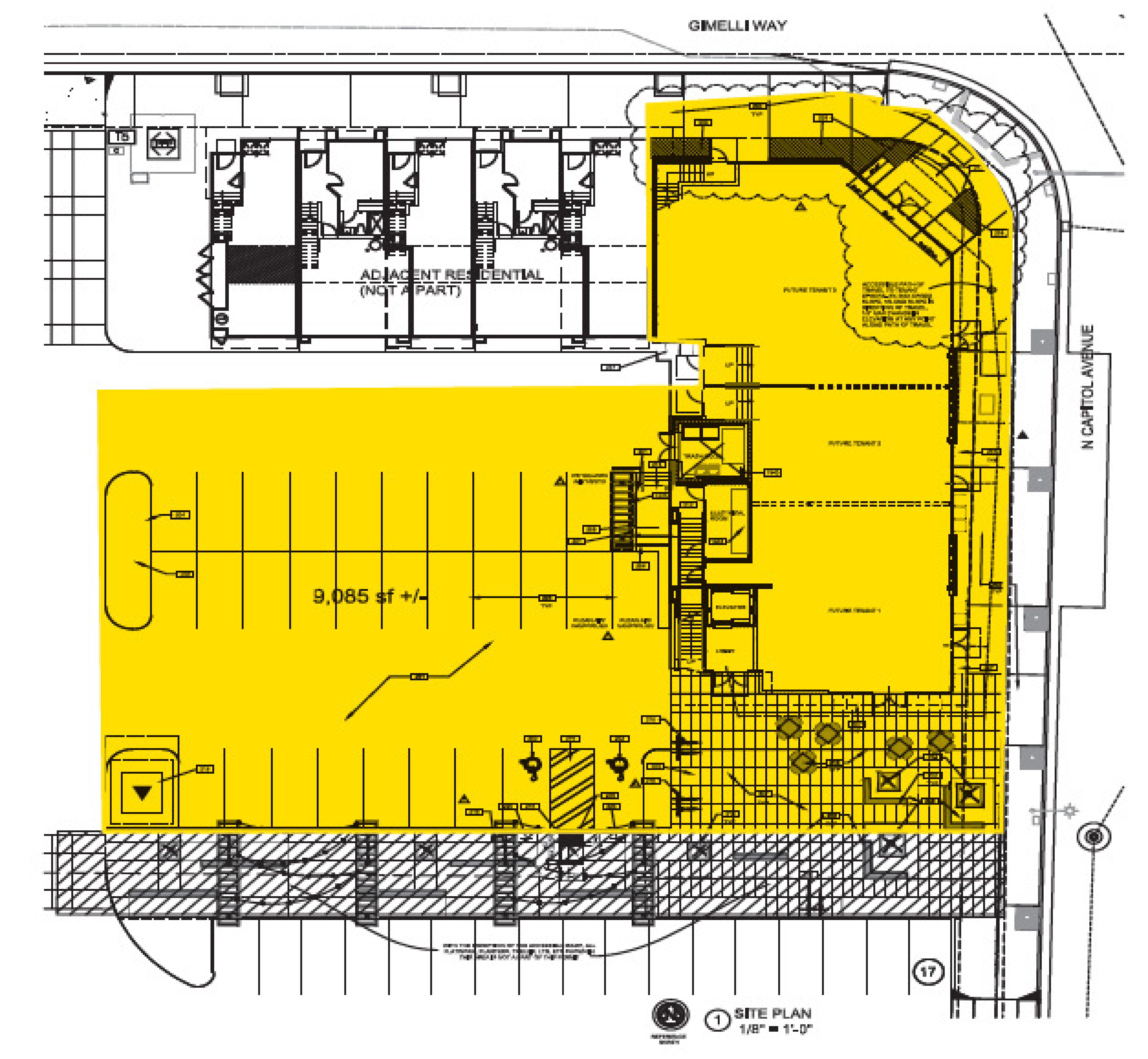 585 N. Capitol Ave: site plan