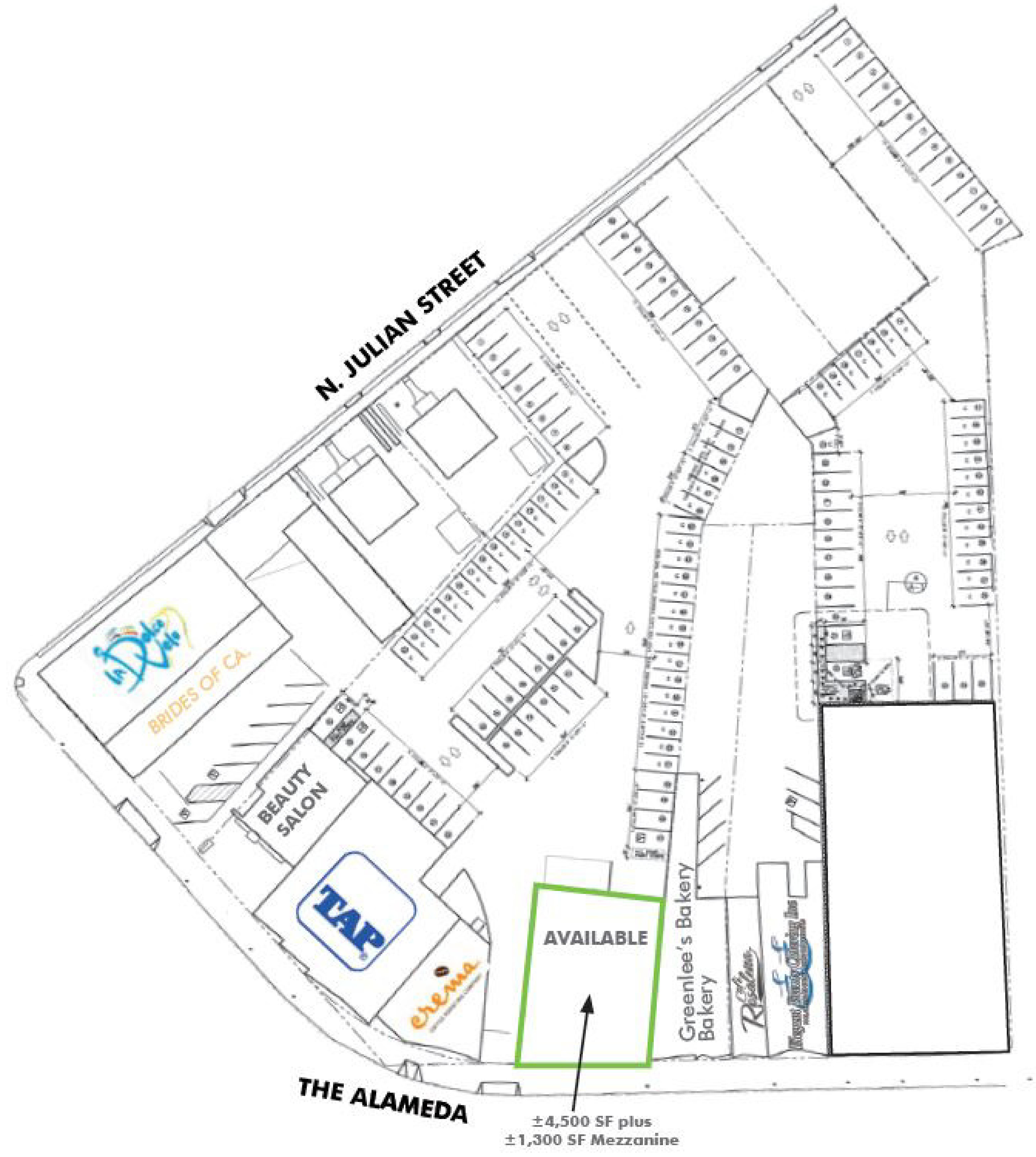 1085-1095 The Alameda: site plan