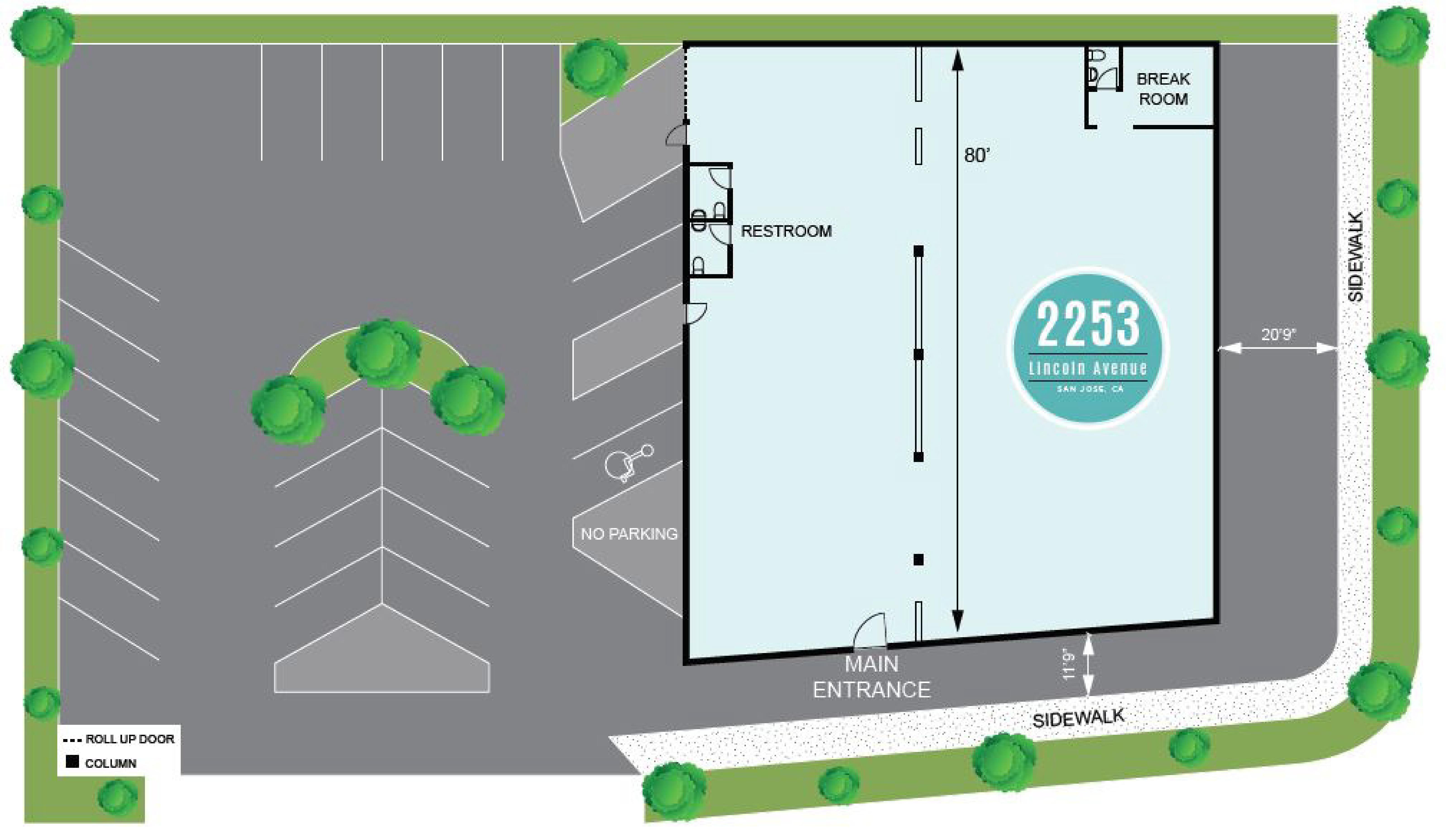 2253 Lincoln Avenue: site plan