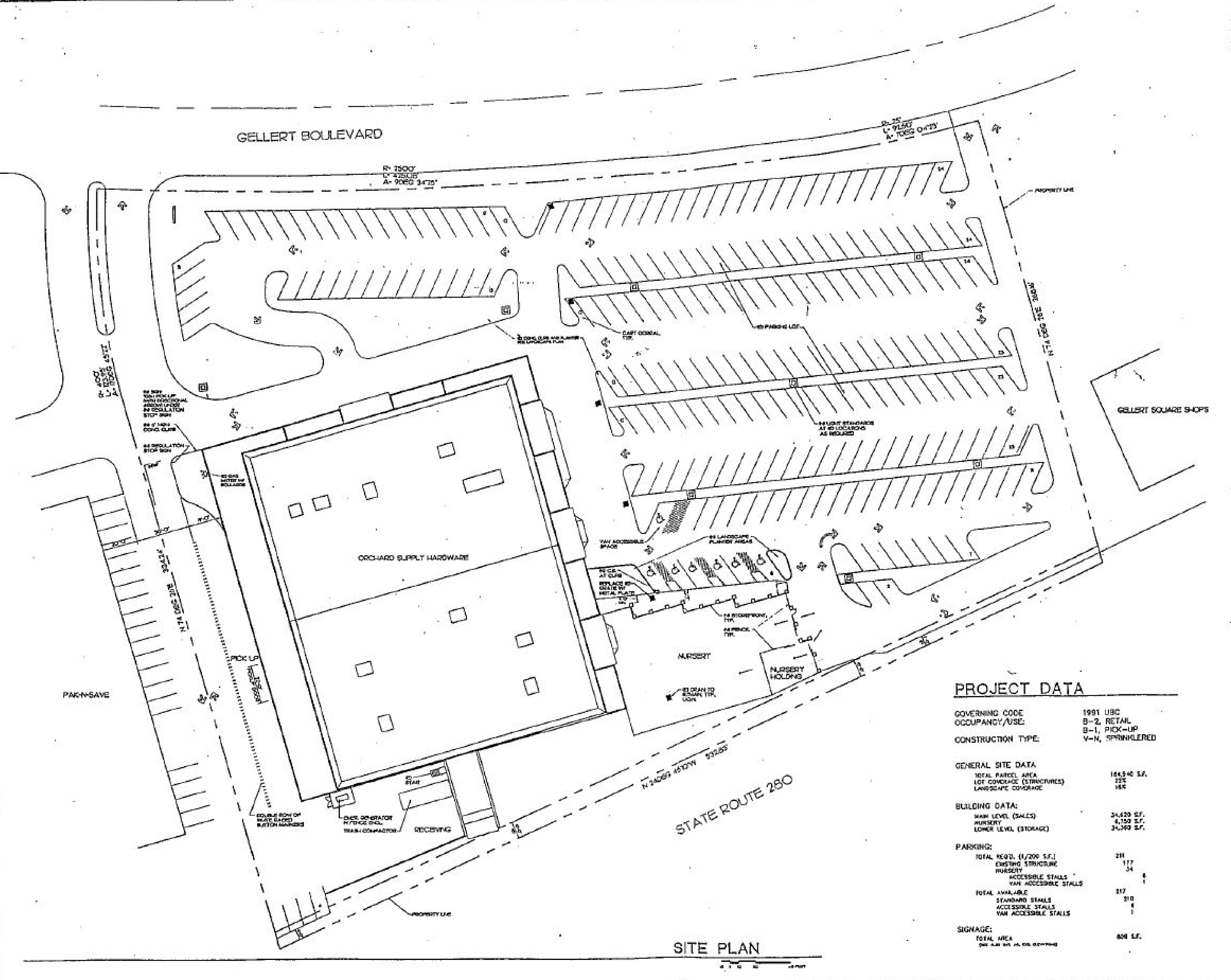 Gellert Marketplace: site plan