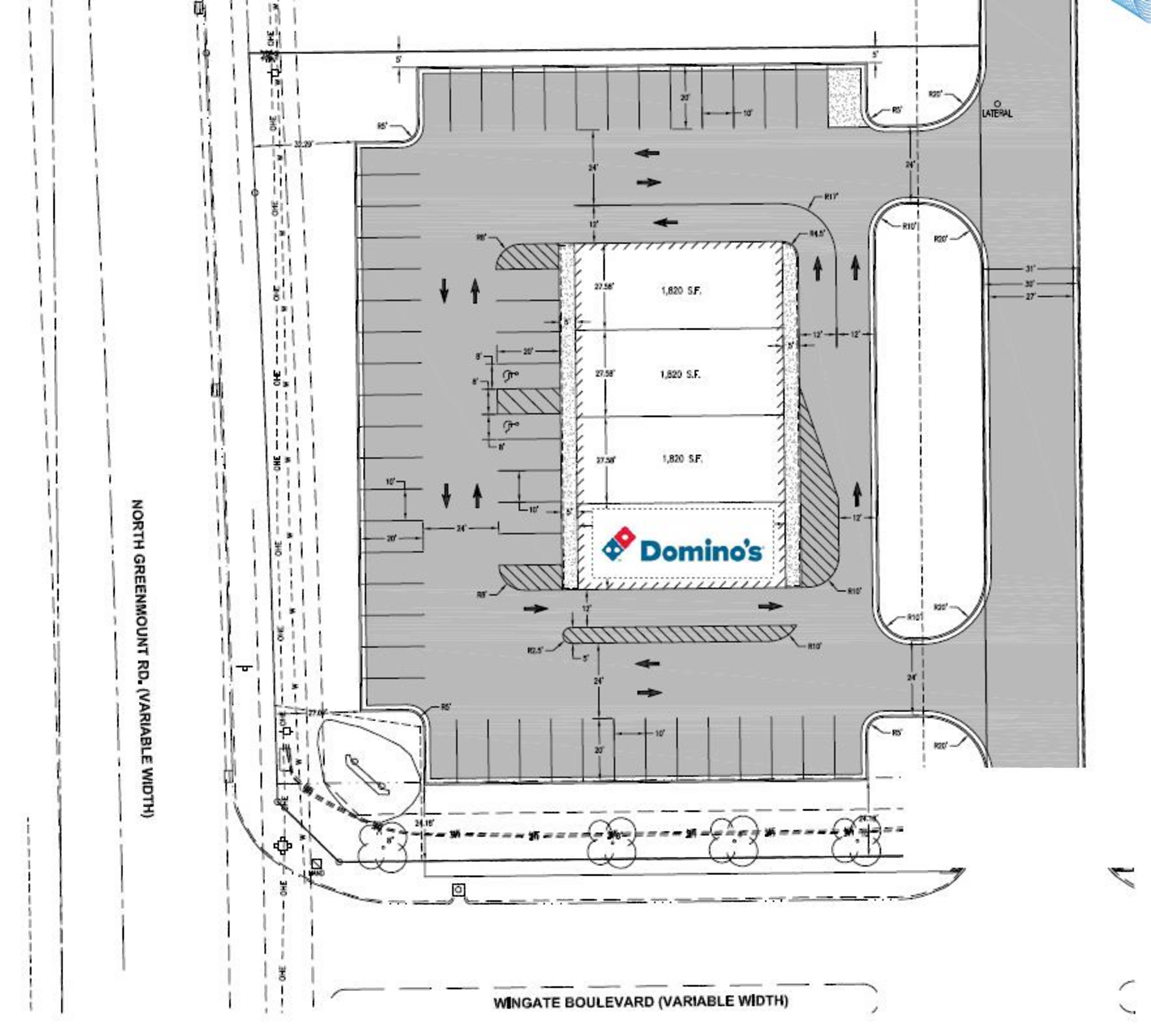 The Shoppes at Wingate: site plan