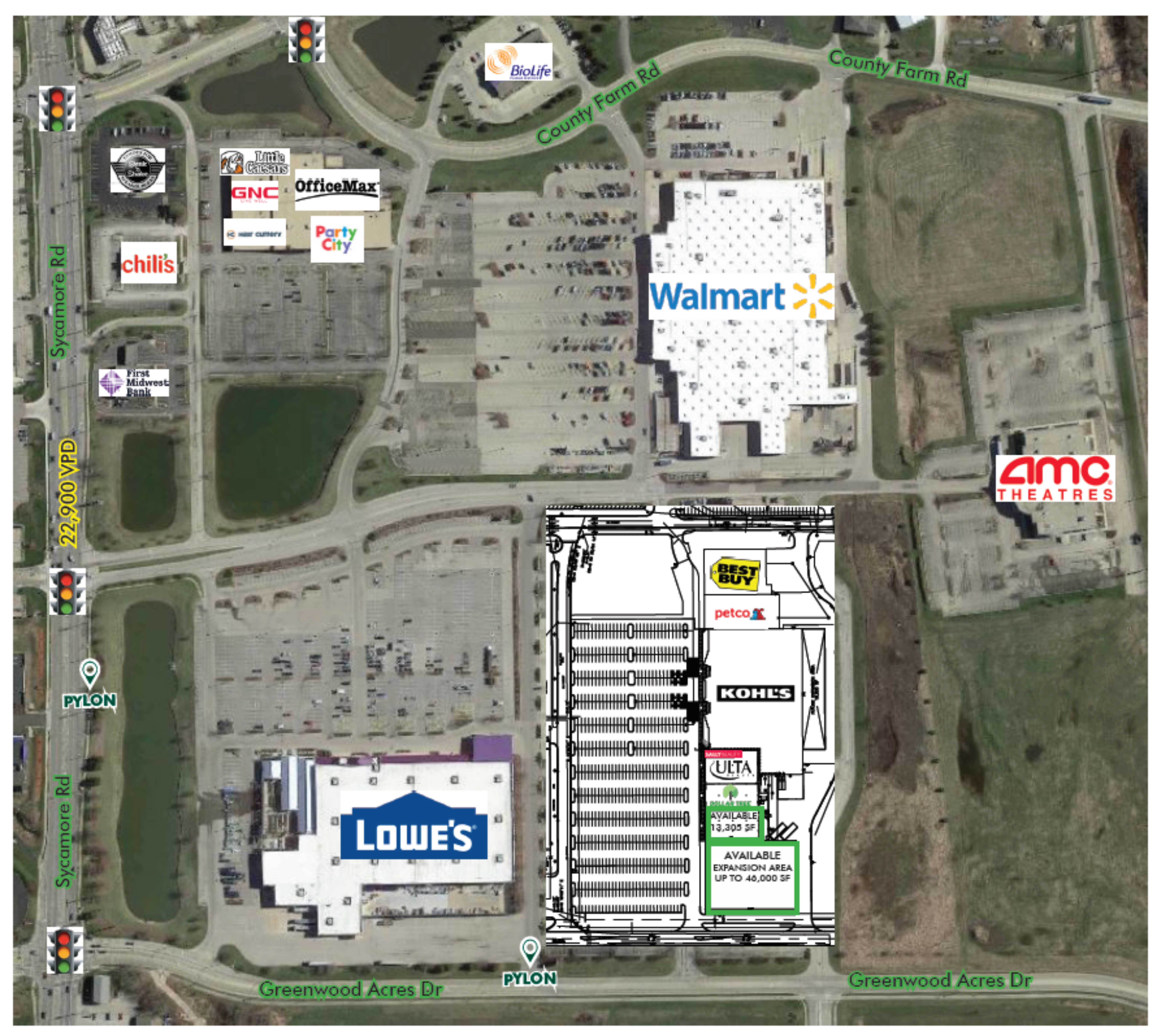 DeKalb Market Square: site plan