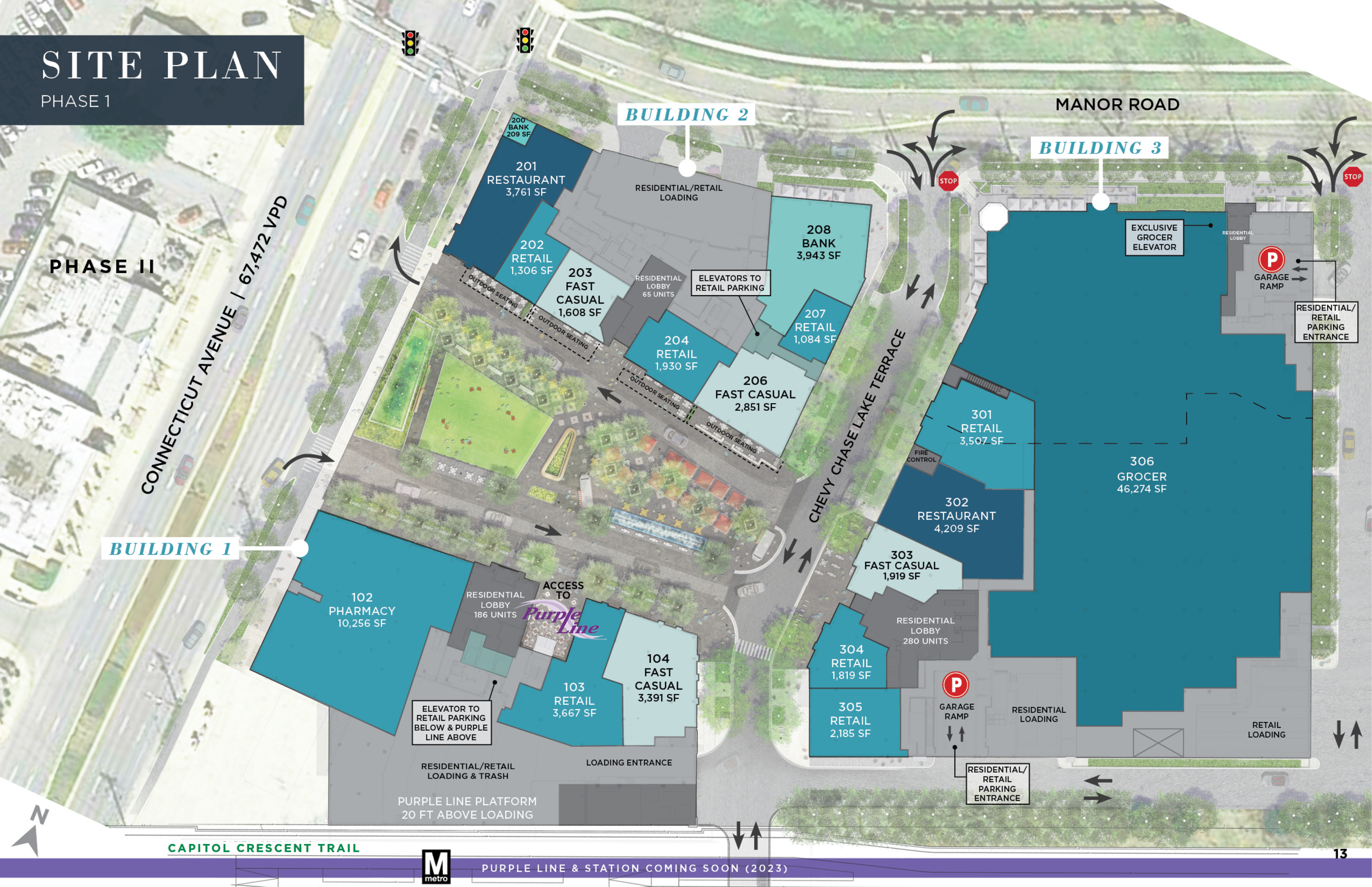Chevy Chase Lake: site plan